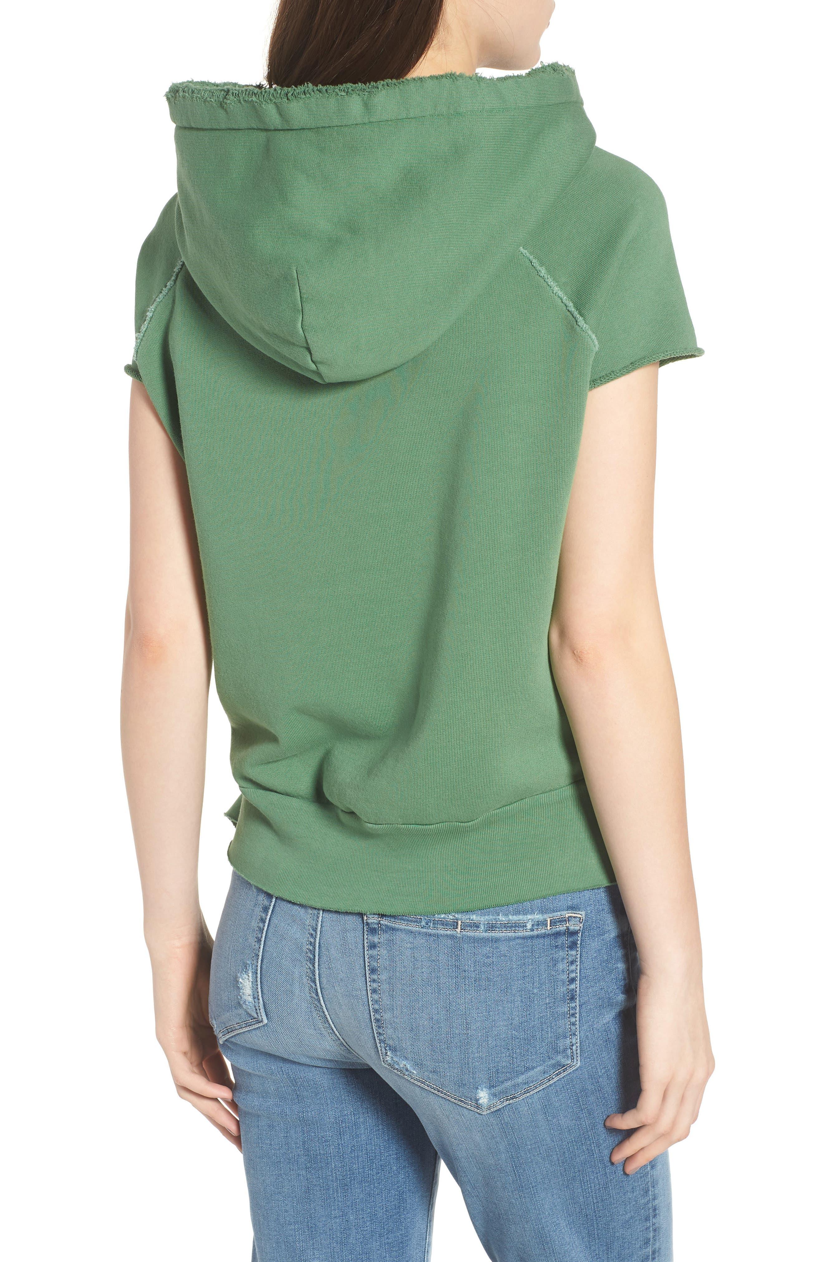 Short Sleeve Pullover Hoodie,                             Alternate thumbnail 2, color,                             Envied 5 Year Vintage Wash