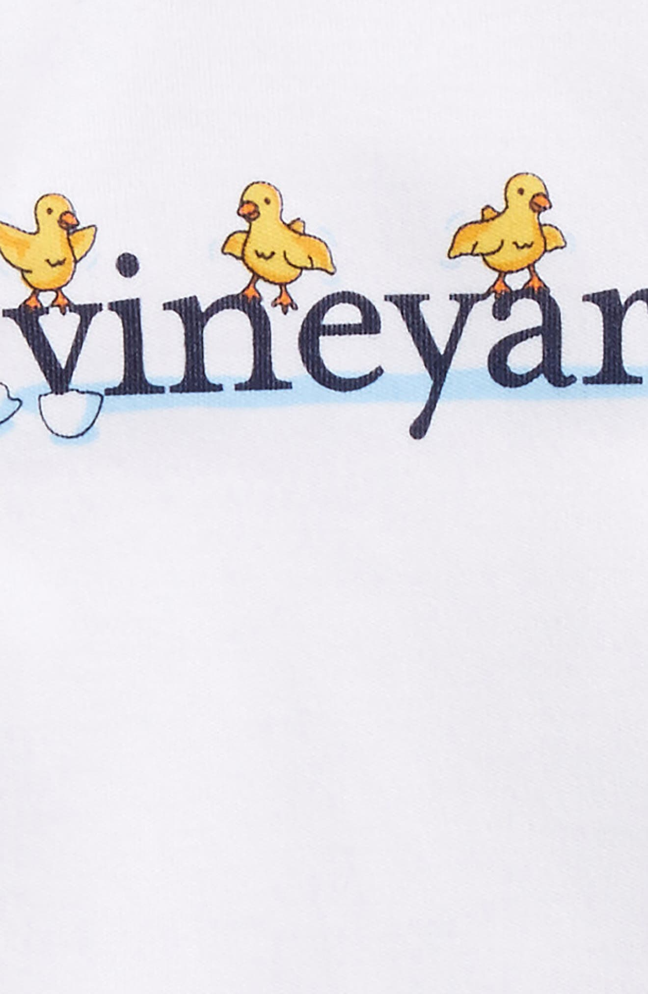 Alternate Image 2  - vineyard vines Easter Chick Pima Cotton Bodysuit (Baby)