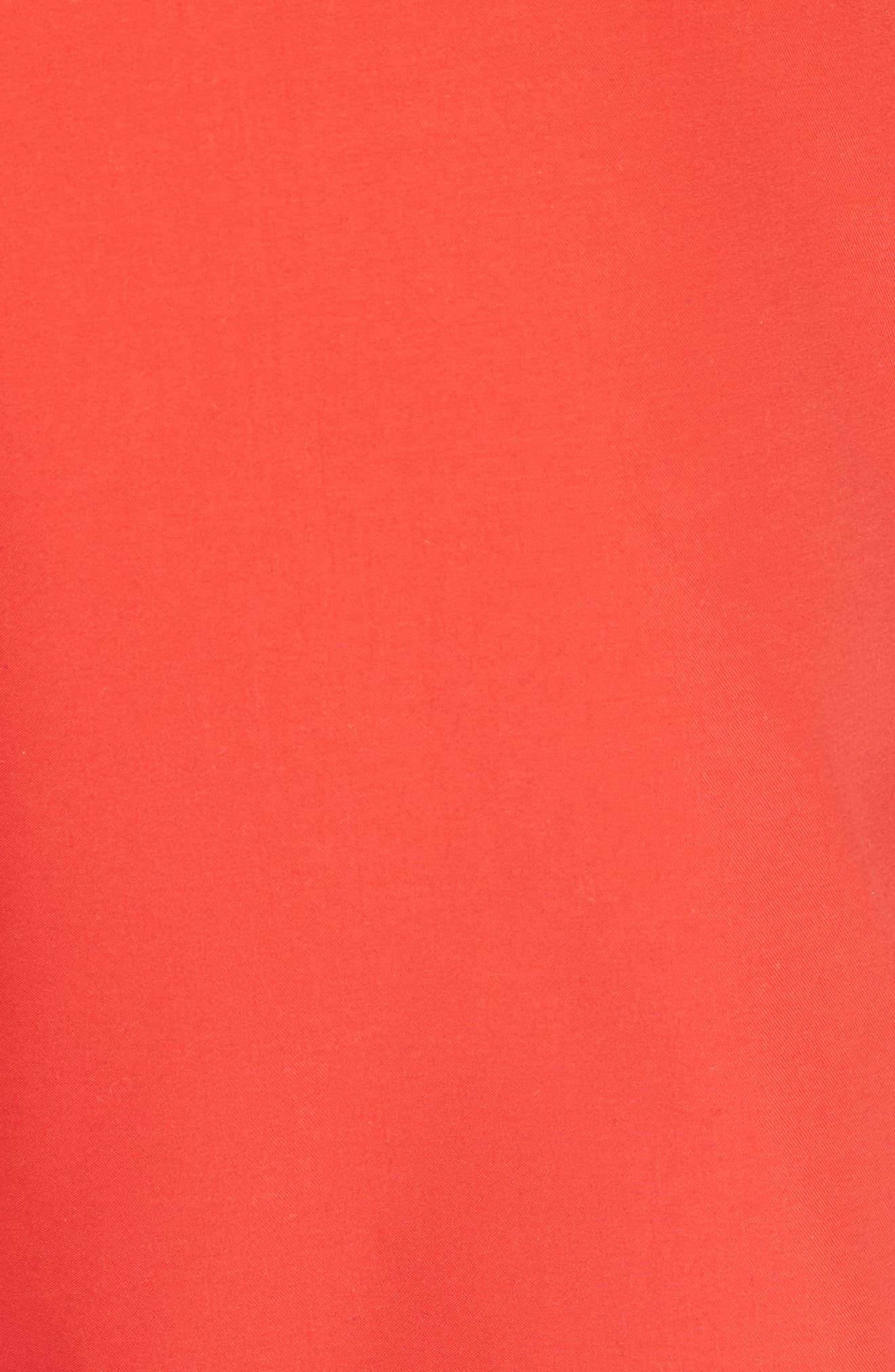 Bermuda Swim Trunks,                             Alternate thumbnail 5, color,                             Red