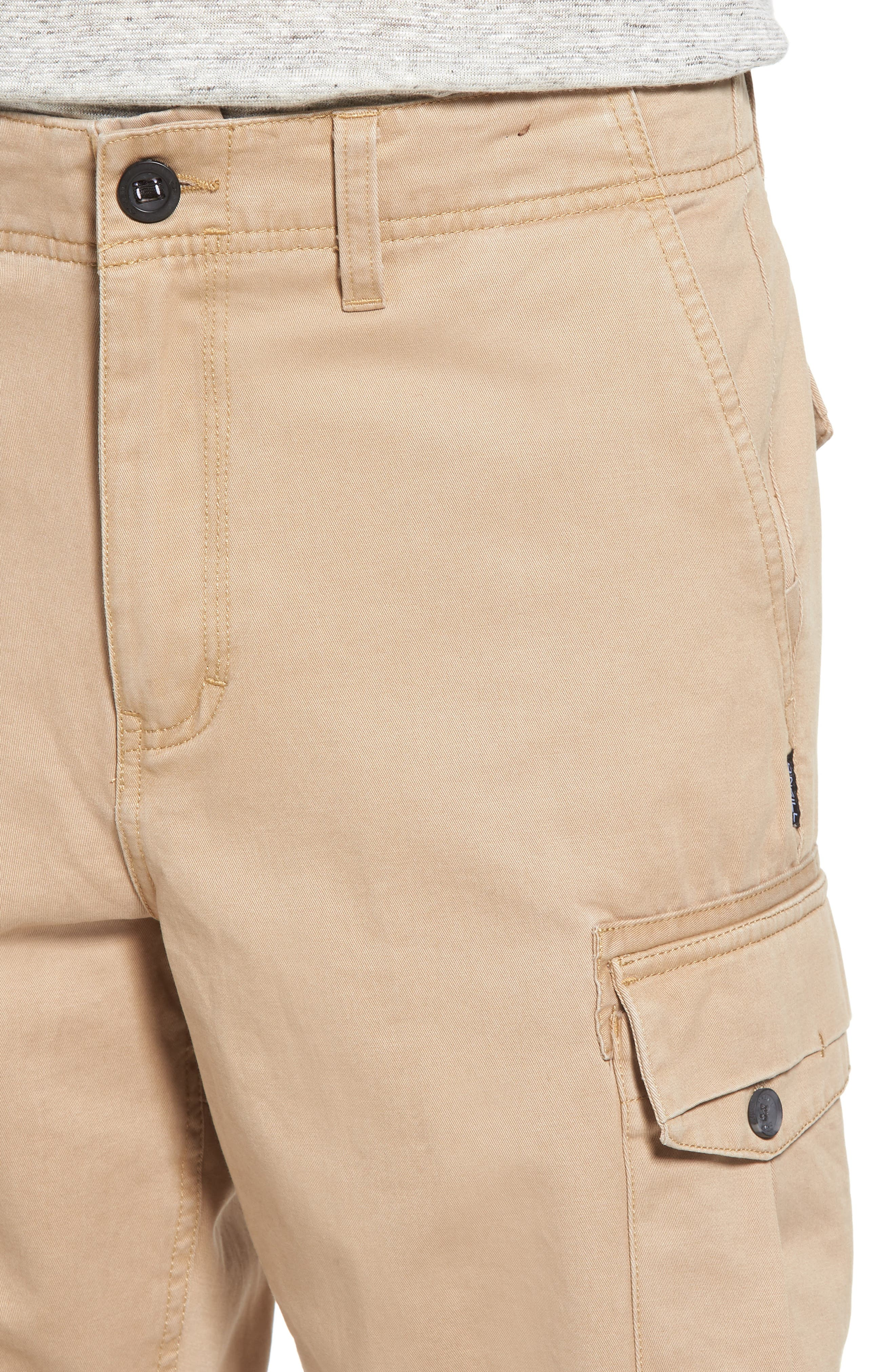 Campbell Cargo Shorts,                             Alternate thumbnail 4, color,                             Khaki