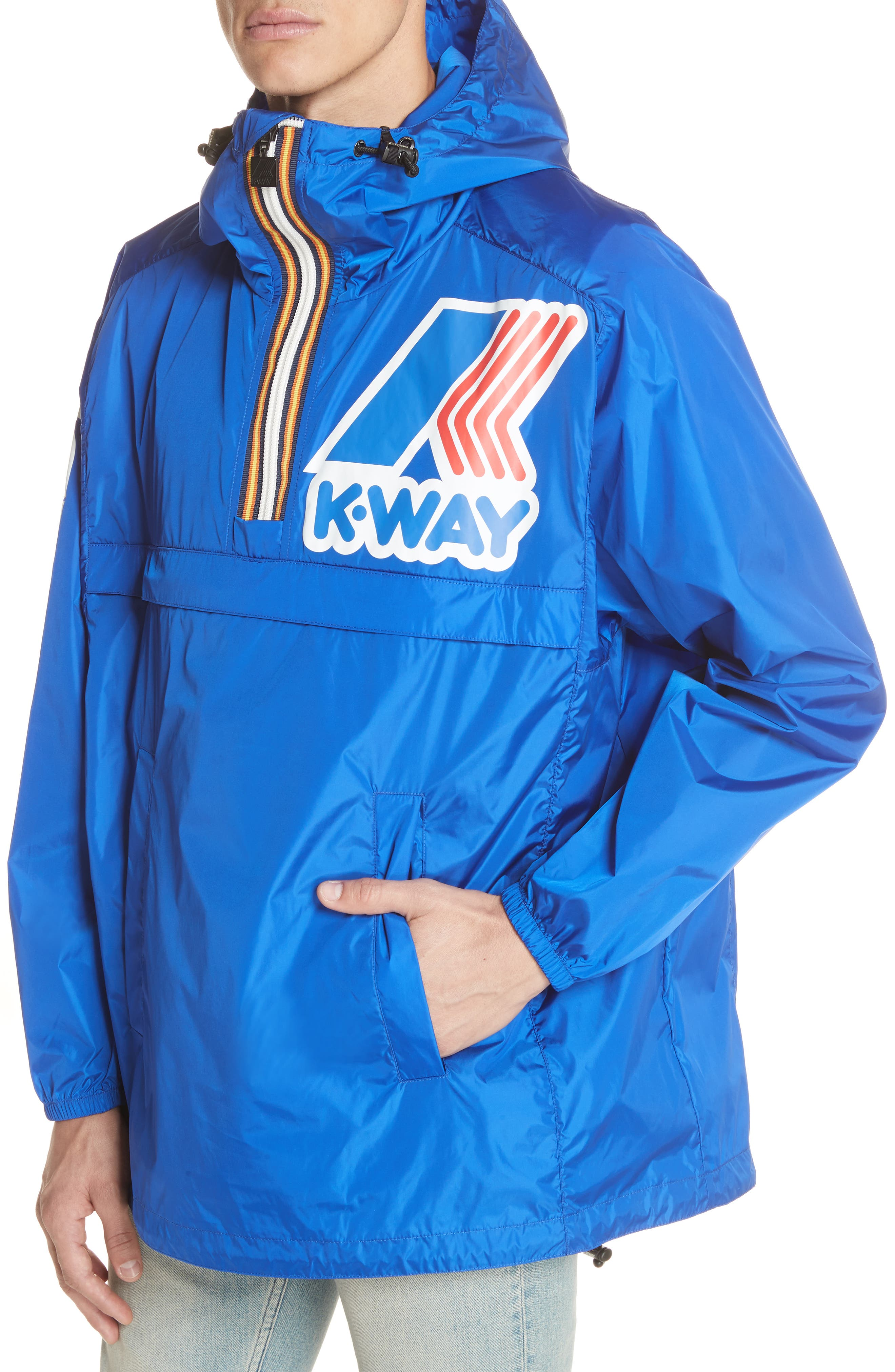 x K-Way Windbreaker,                             Alternate thumbnail 4, color,                             Light/Blue