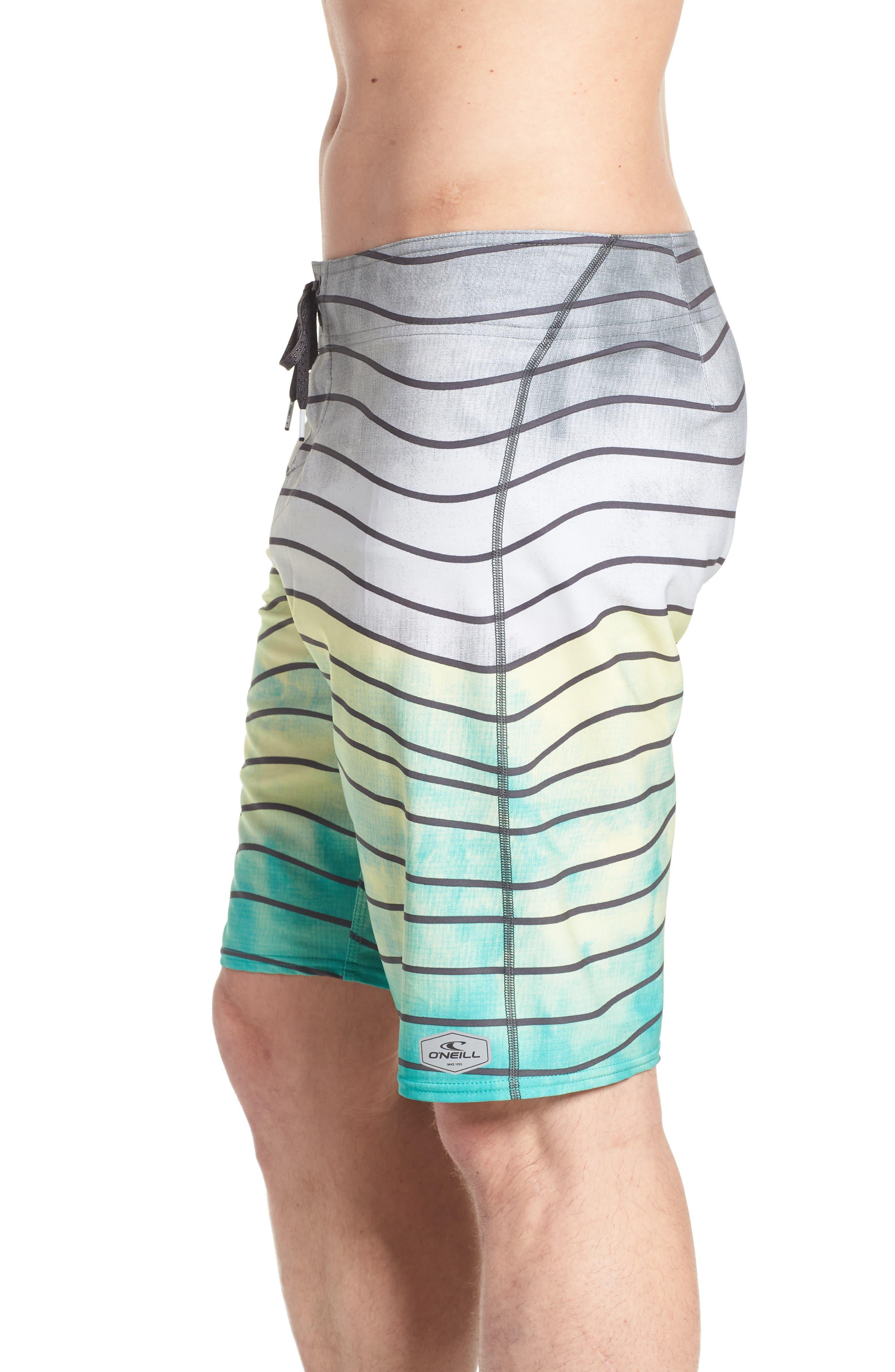 Hyperfreak Swell Board Shorts,                             Alternate thumbnail 4, color,                             Ocean