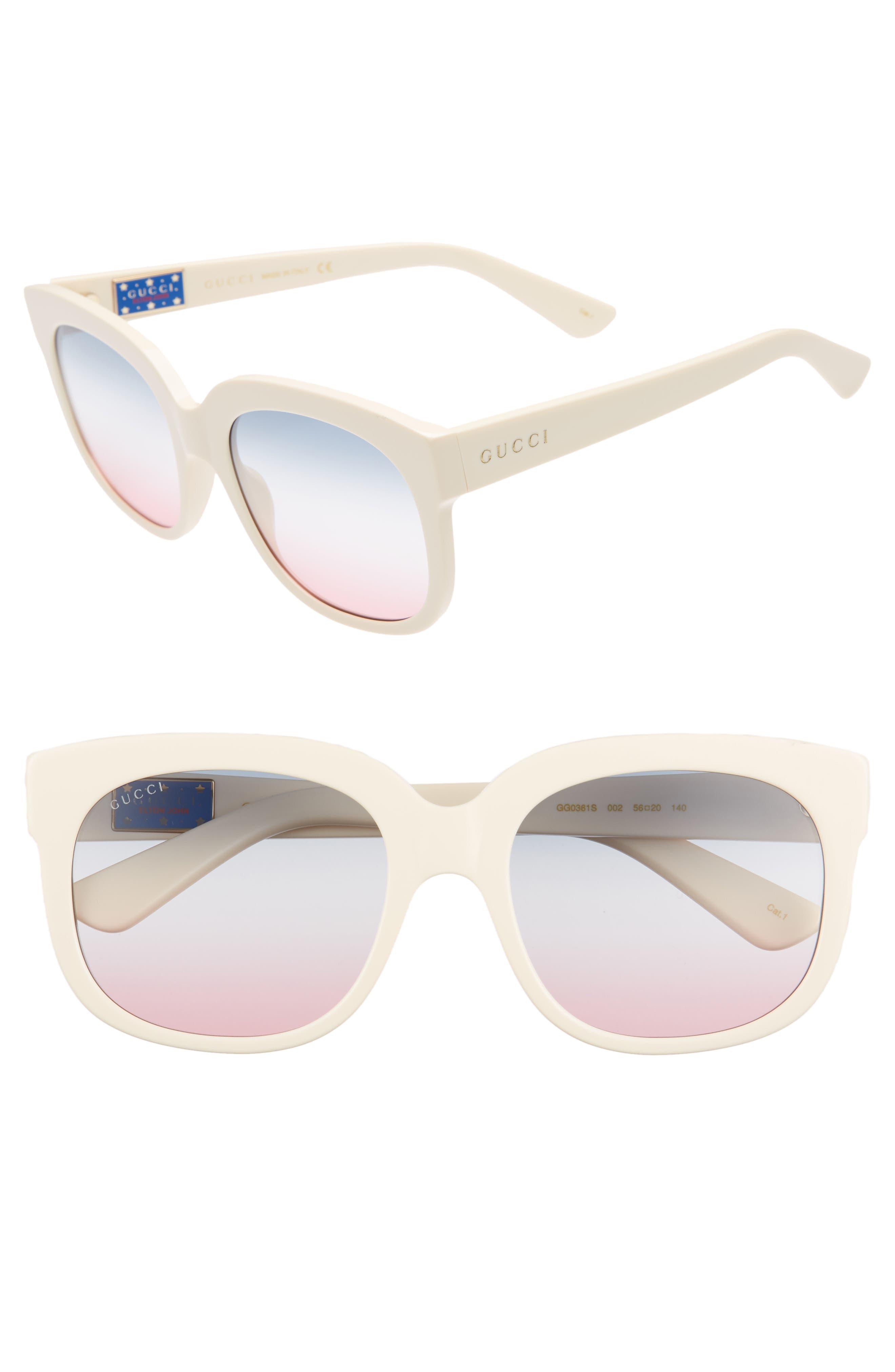 Gucci 56mm Gradient Cat Eye Sunglasses