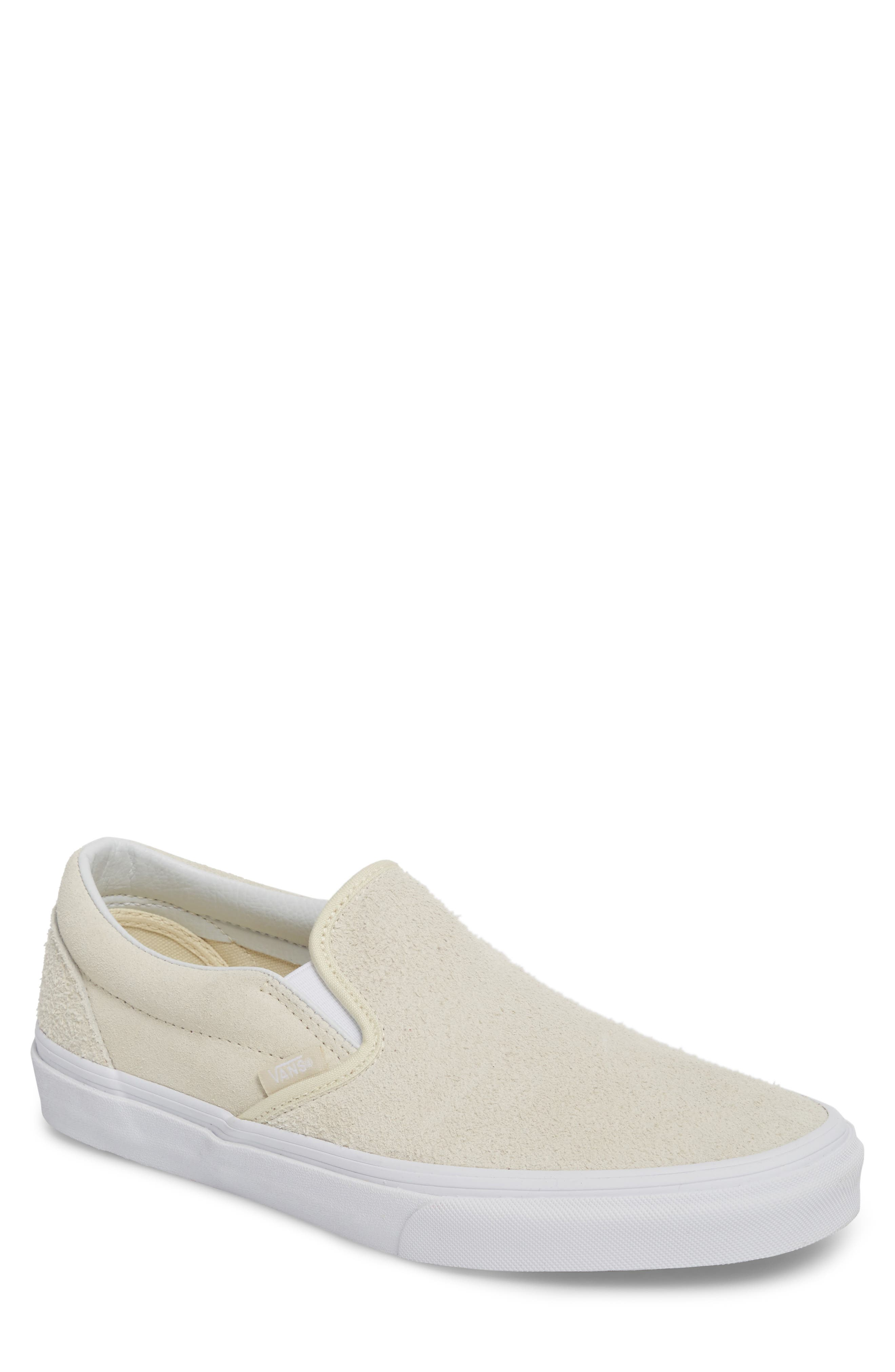 Classic Hairy Suede Slip-On Sneaker,                             Main thumbnail 1, color,                             Turtledove Leather