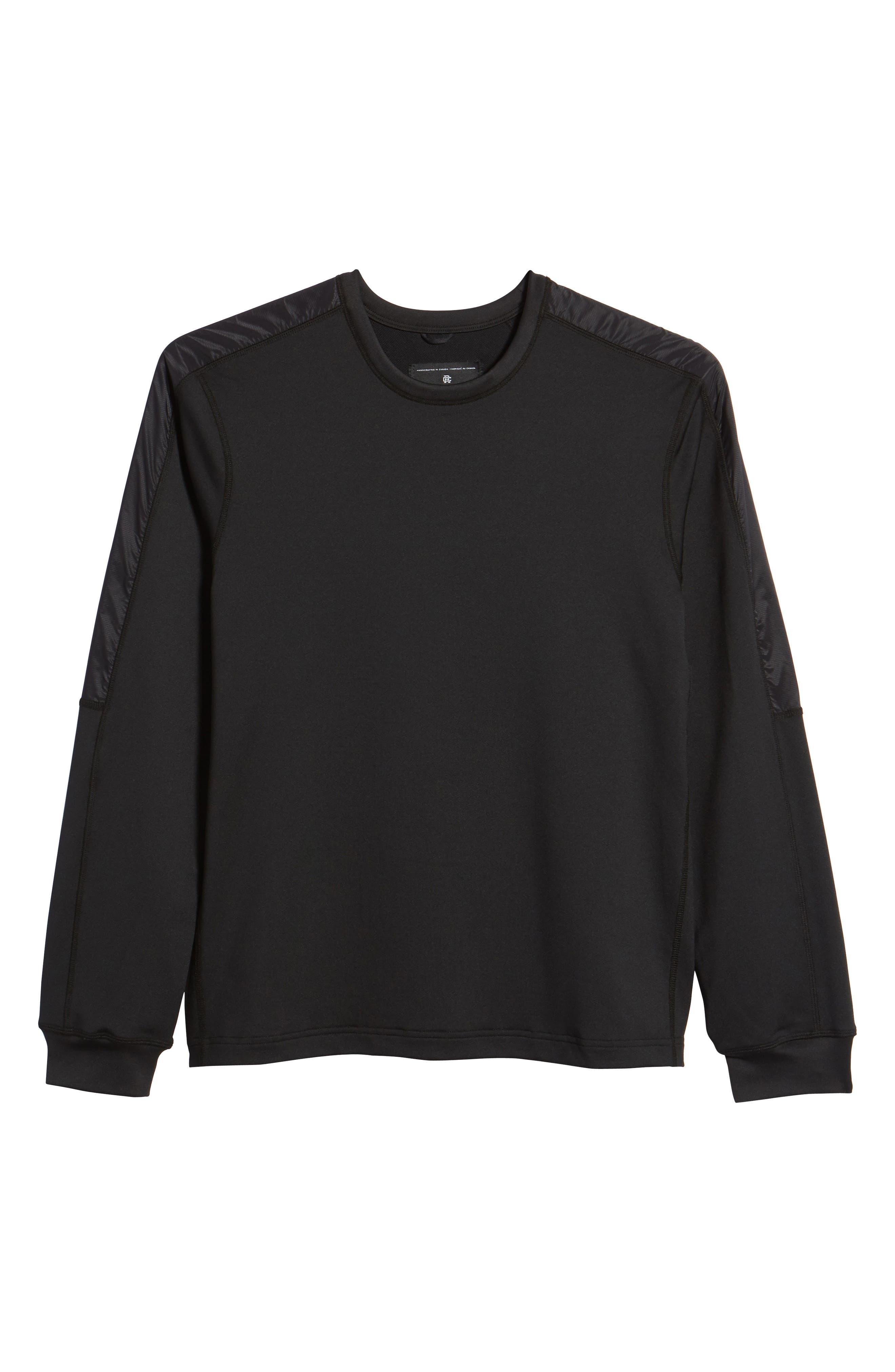 Hybrid Coolmax Crewneck Shirt,                             Alternate thumbnail 6, color,                             Black