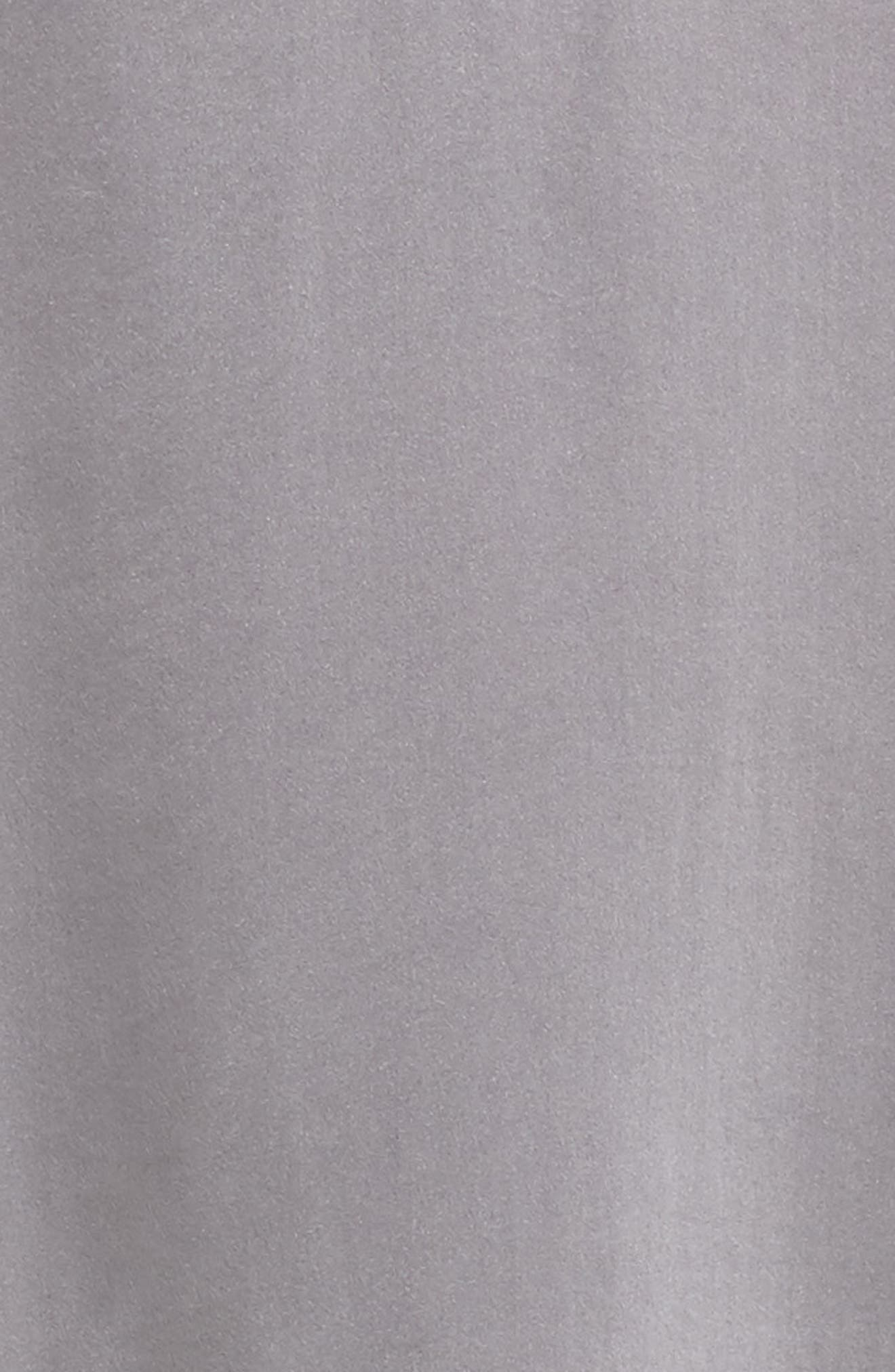 Short Silk Pajamas,                             Alternate thumbnail 5, color,                             Charcoal