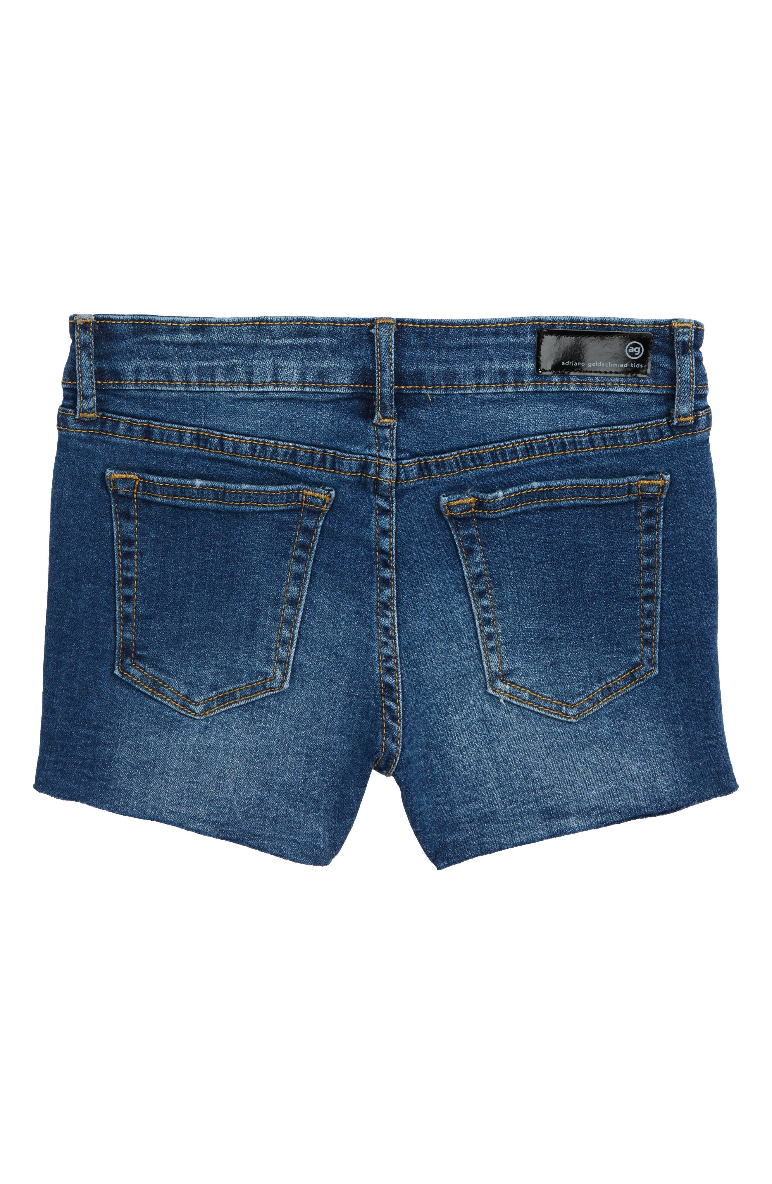 Alternate Image 2  - ag adriano goldschmied kids The Bruna Cutoff Denim Shorts (Big Girls)