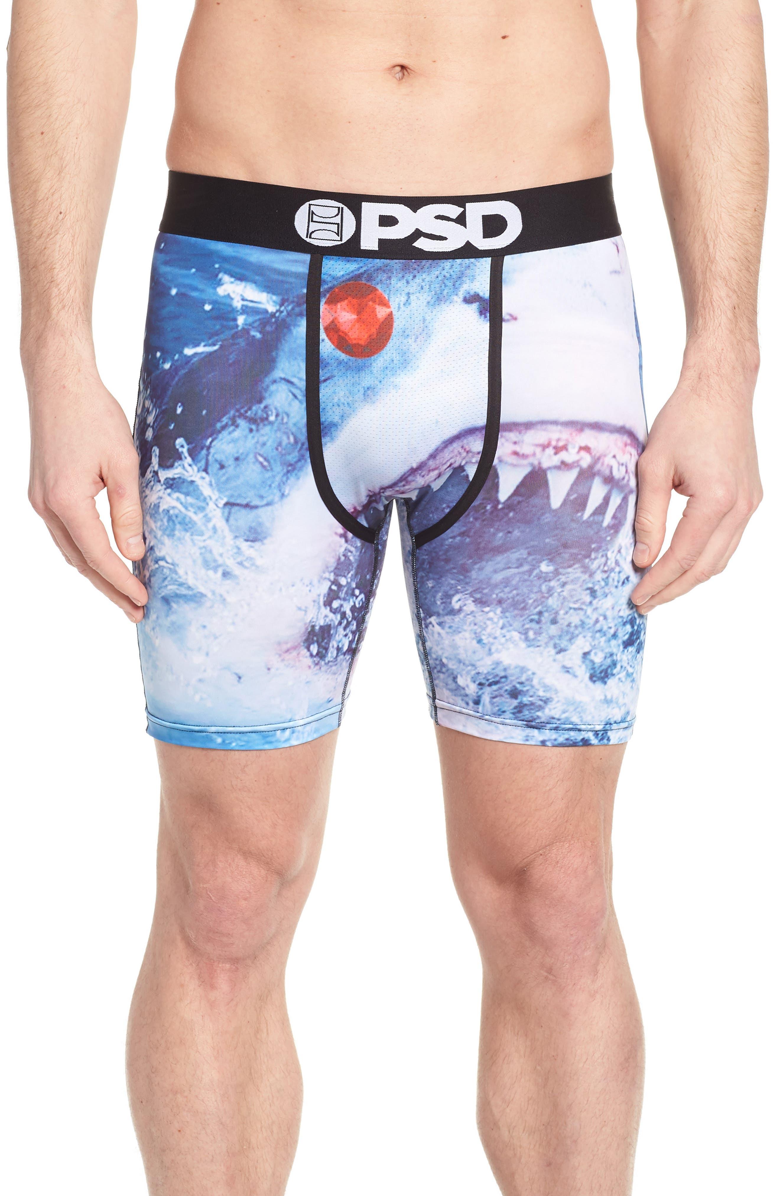 Shark Boxer Briefs,                         Main,                         color, Blue