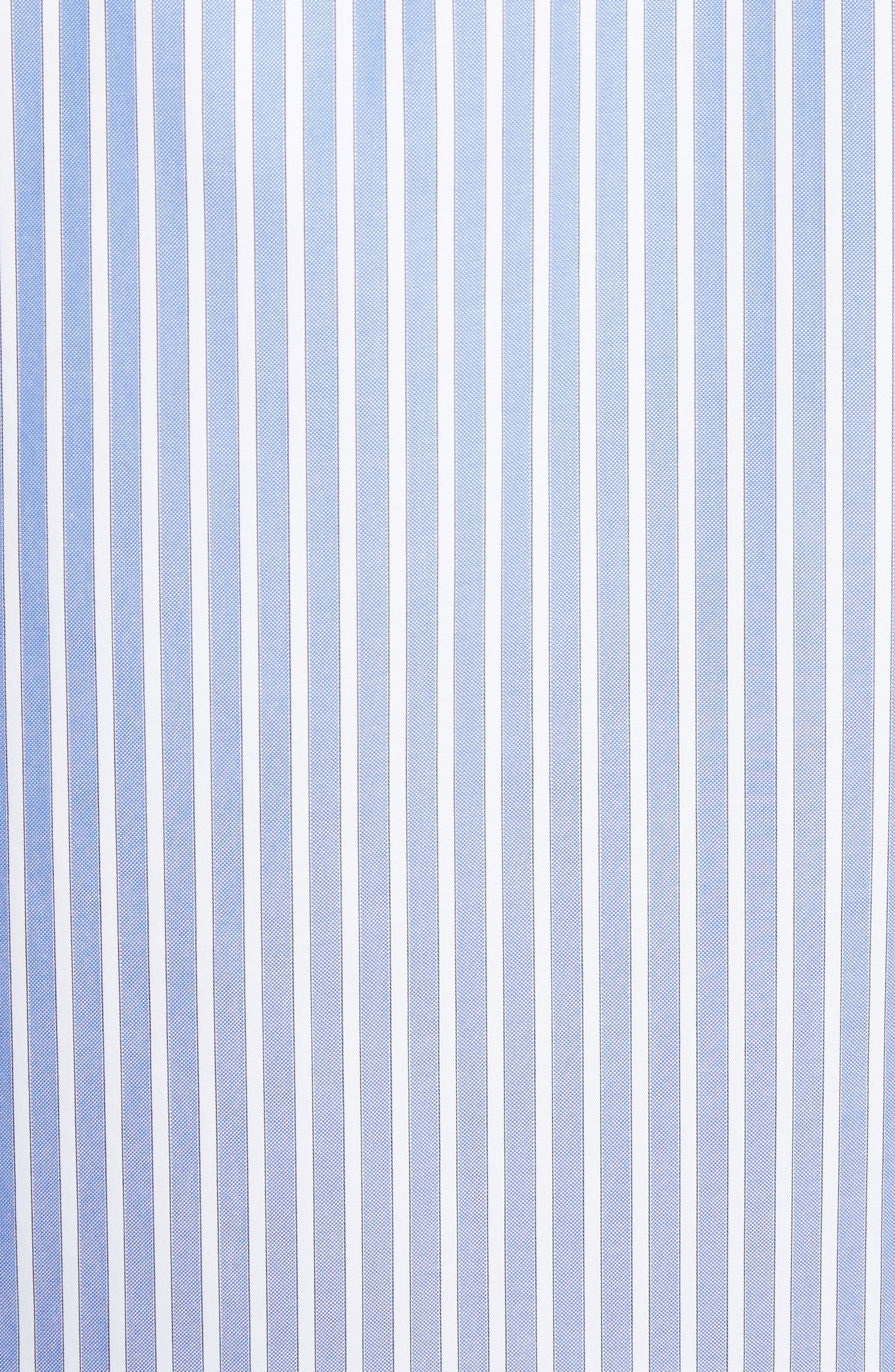 Bee Embroidered Stripe Dress Shirt,                             Alternate thumbnail 5, color,                             4869 Blue