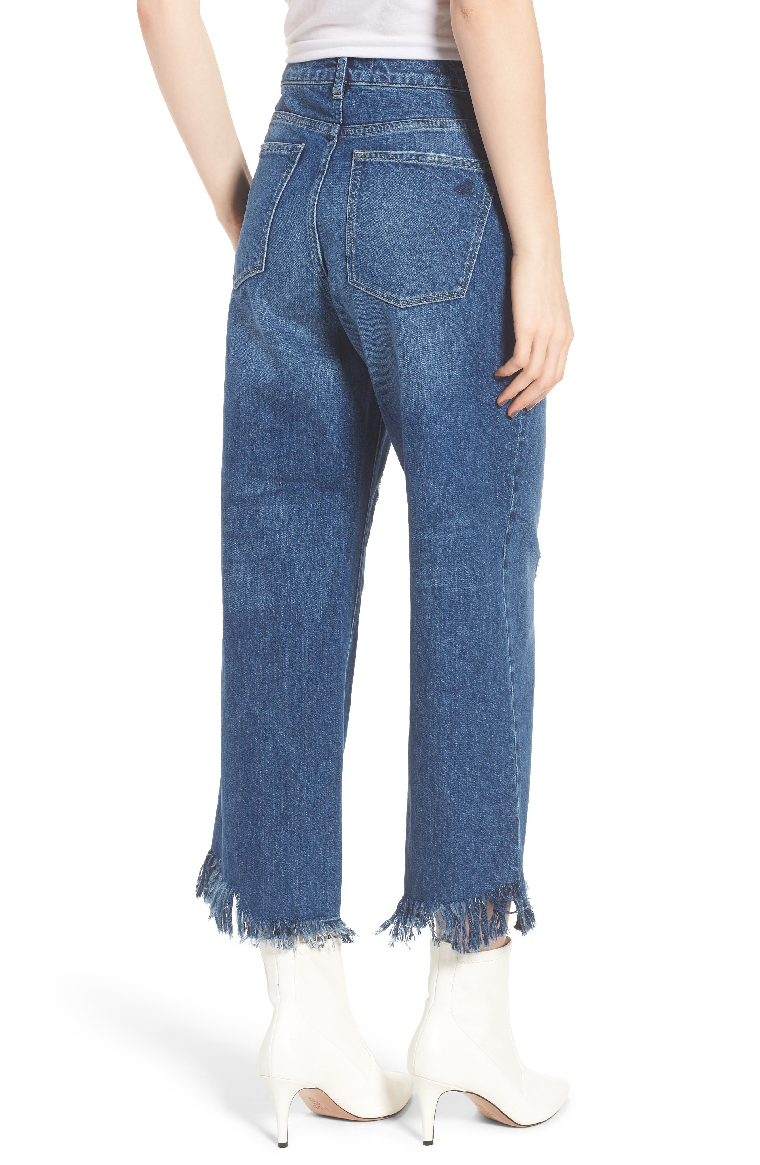 Hepburn High Waist Wide Leg Jeans,                             Alternate thumbnail 2, color,                             Goldfield