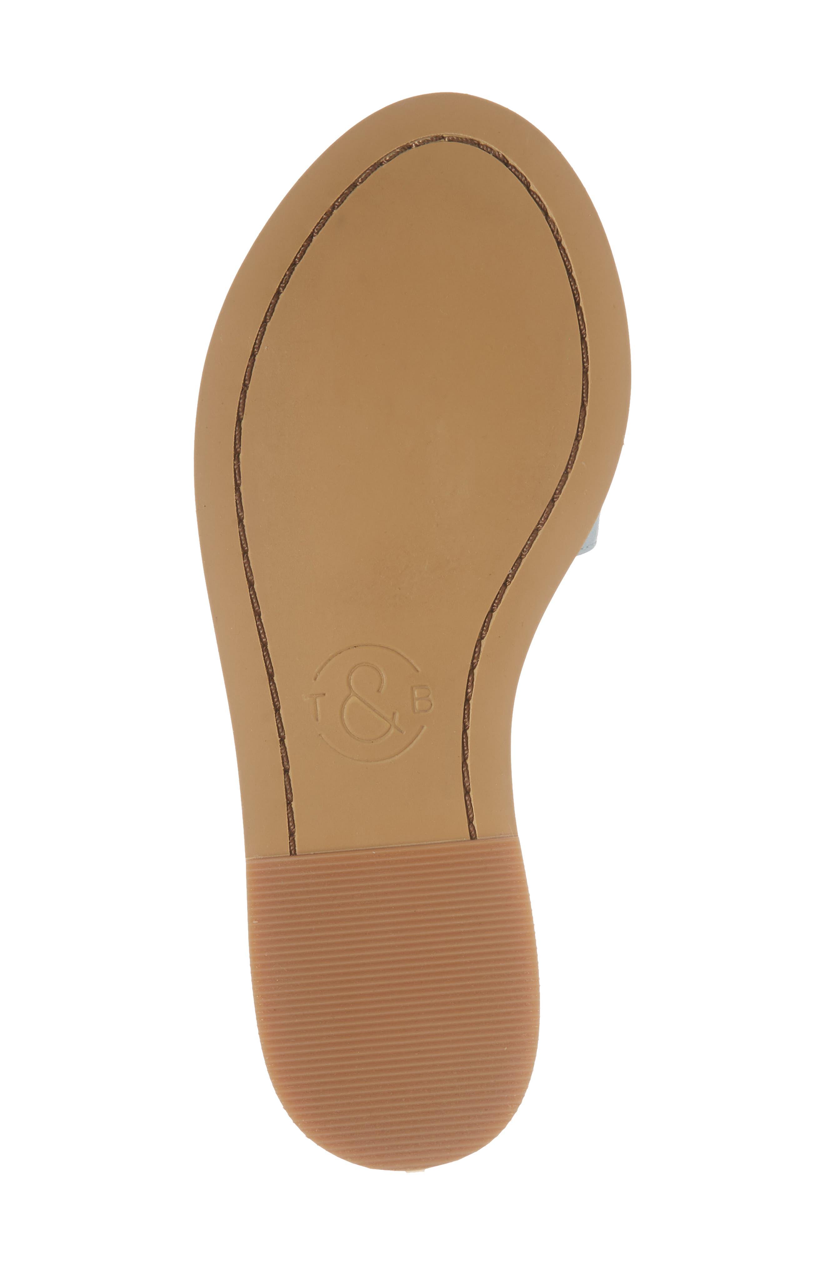 Mia Slide Sandal,                             Alternate thumbnail 6, color,                             Aqua Faux Leather