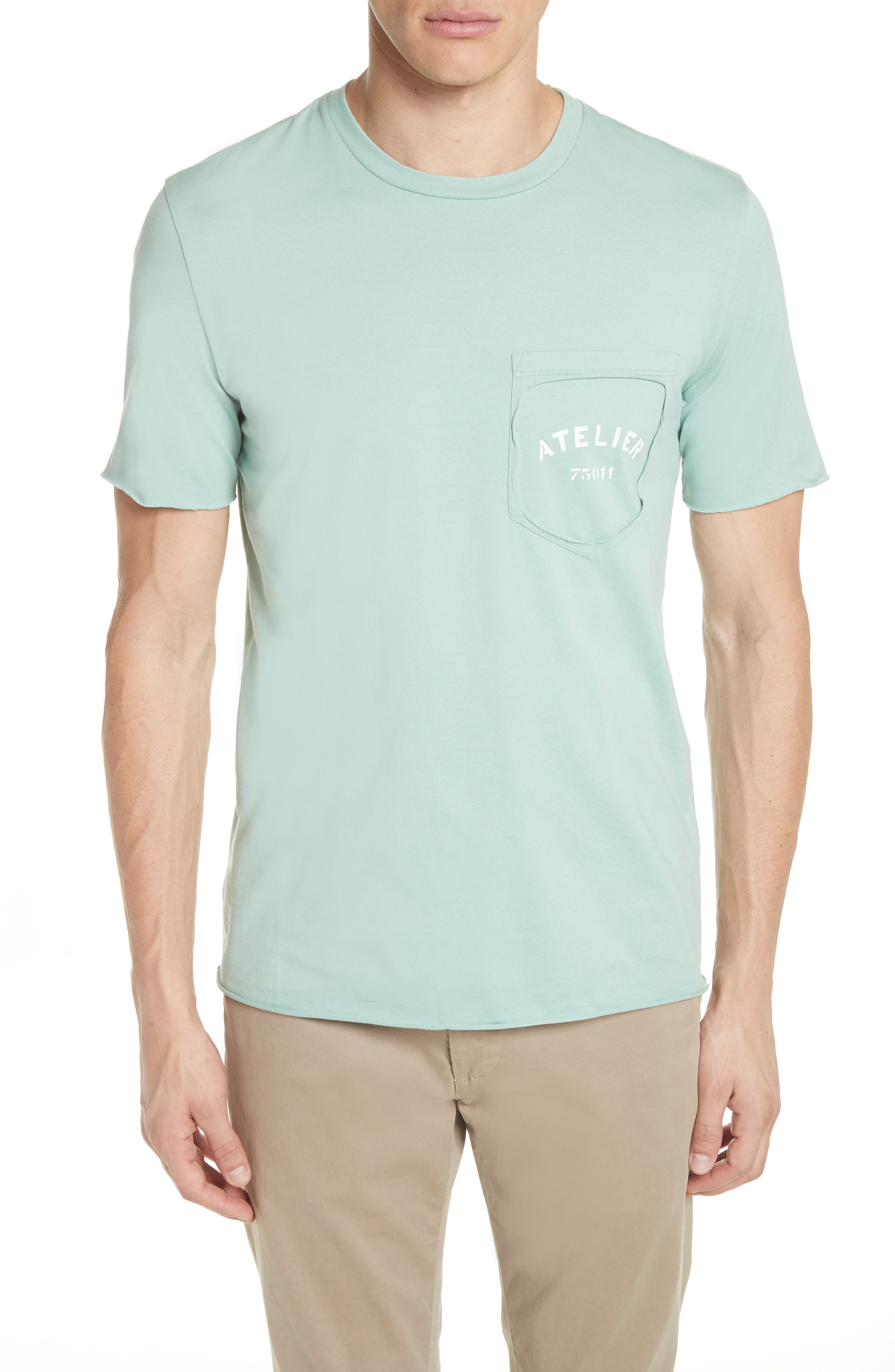 Missing Pocket T-Shirt,                         Main,                         color, Light Green