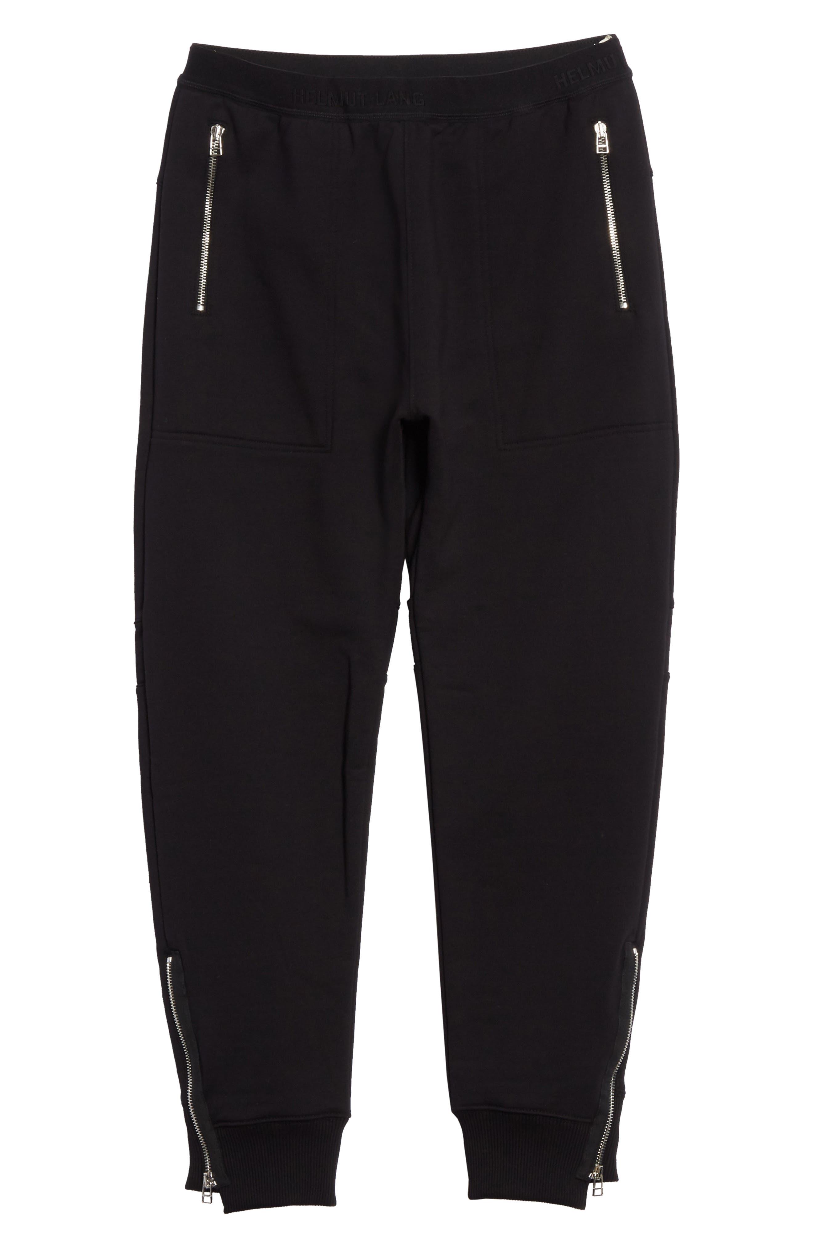 Zip Jogger Pants,                             Alternate thumbnail 6, color,                             Black