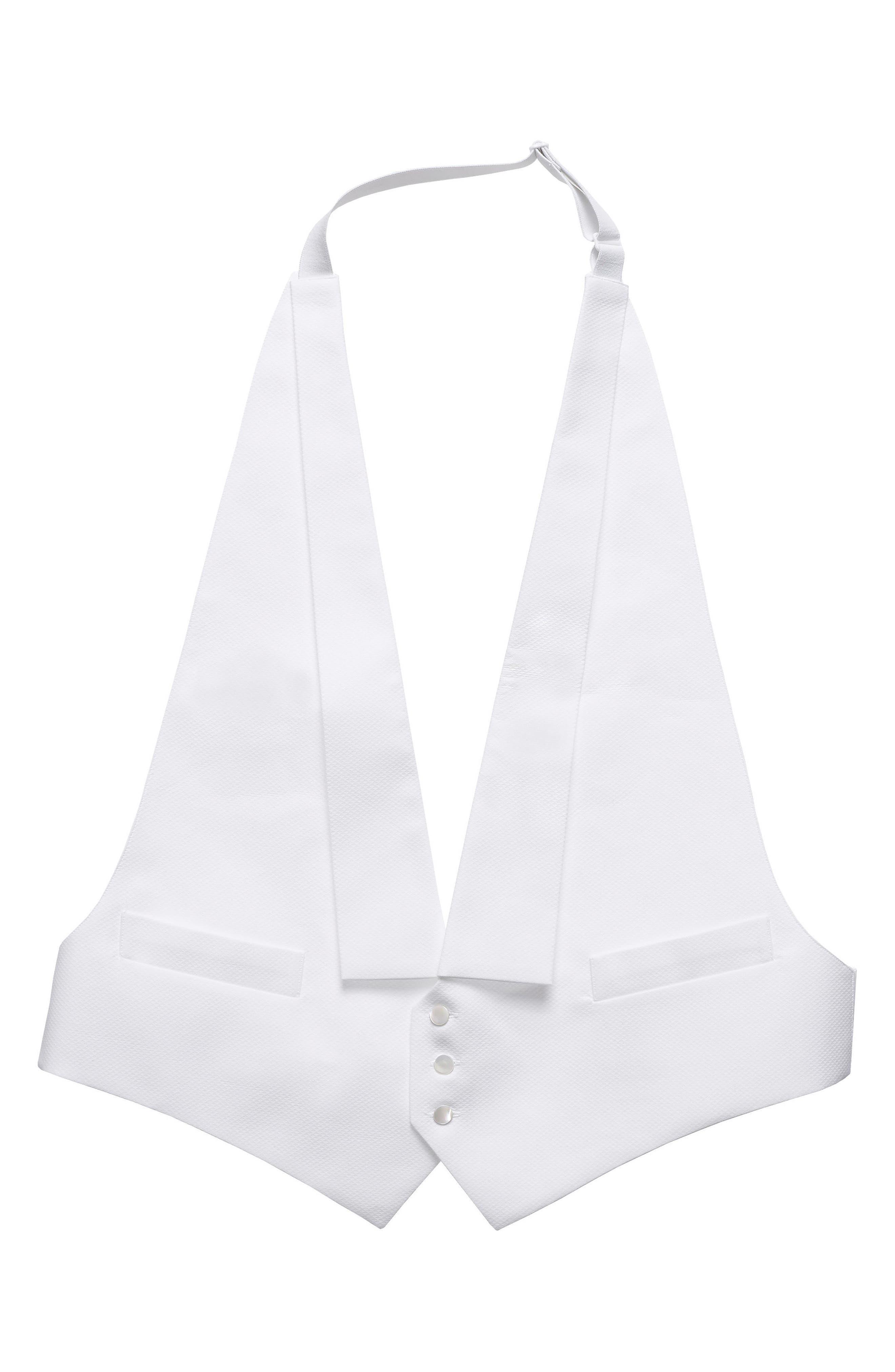 Solid Formal Vest,                         Main,                         color, White