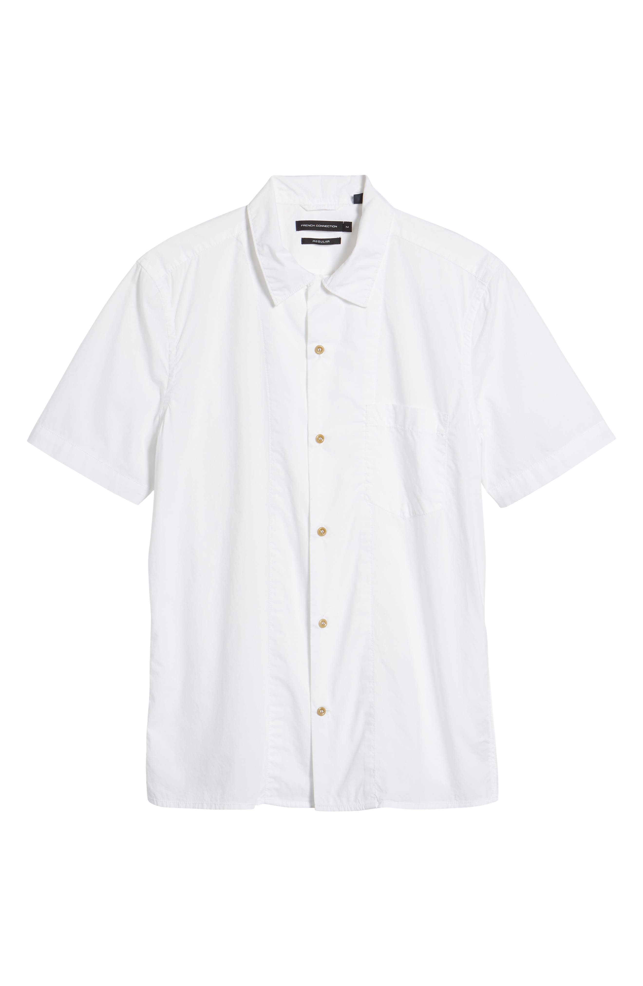 Alternate Image 6  - French Connection Slim Fit Solid Sport Shirt