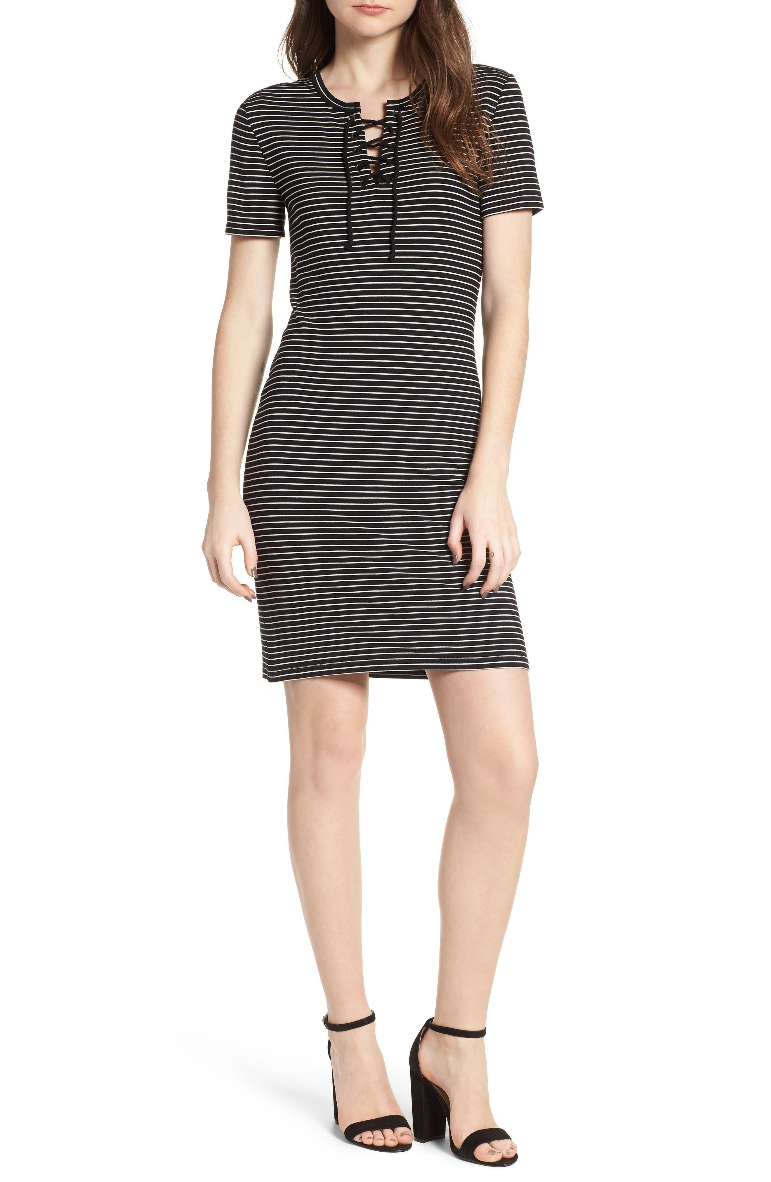 Destiny Sheath Dress,                             Main thumbnail 1, color,                             Black
