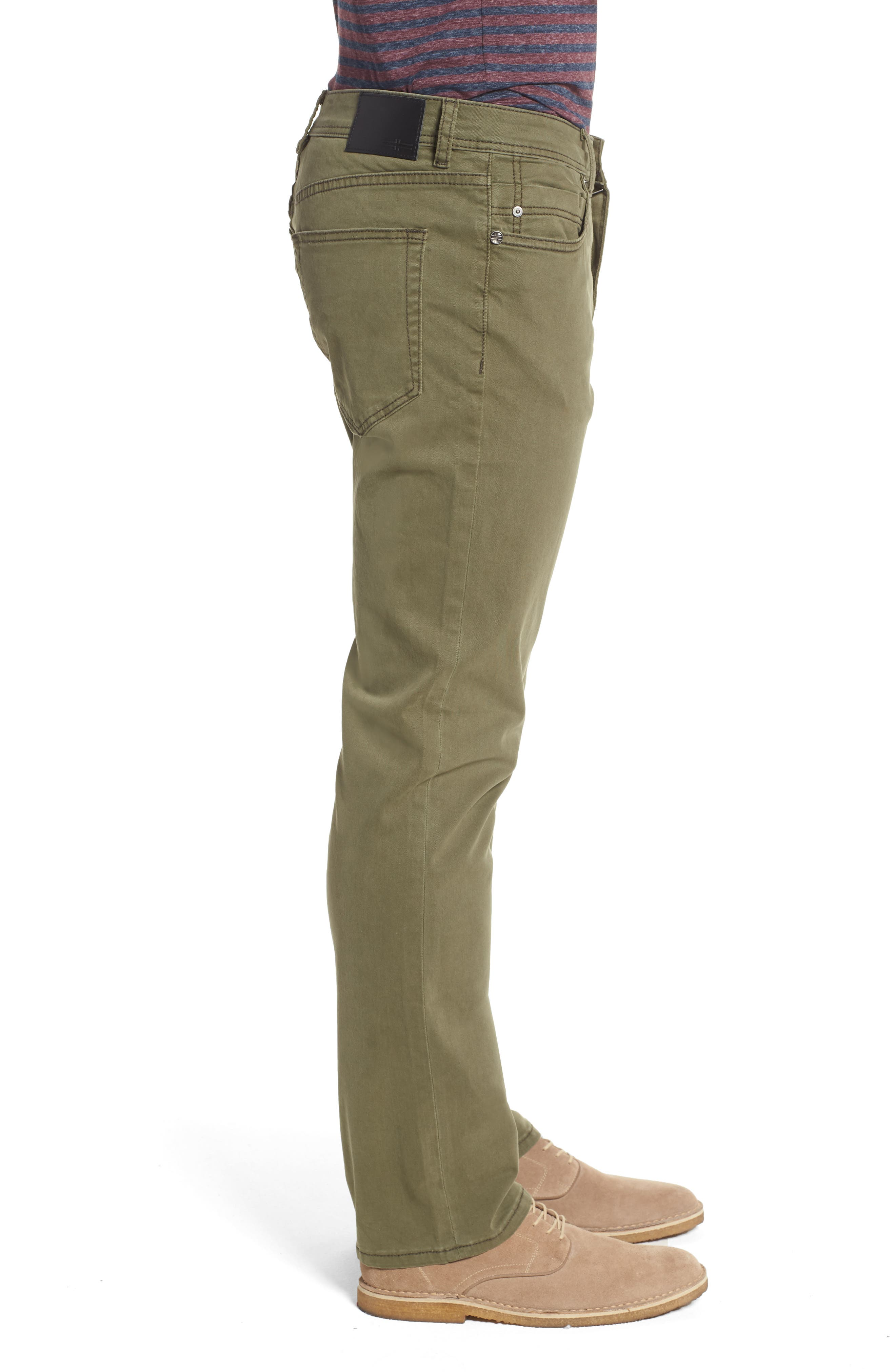 Jeans Co. Regent Relaxed Fit Jeans,                             Alternate thumbnail 3, color,                             Olive Night