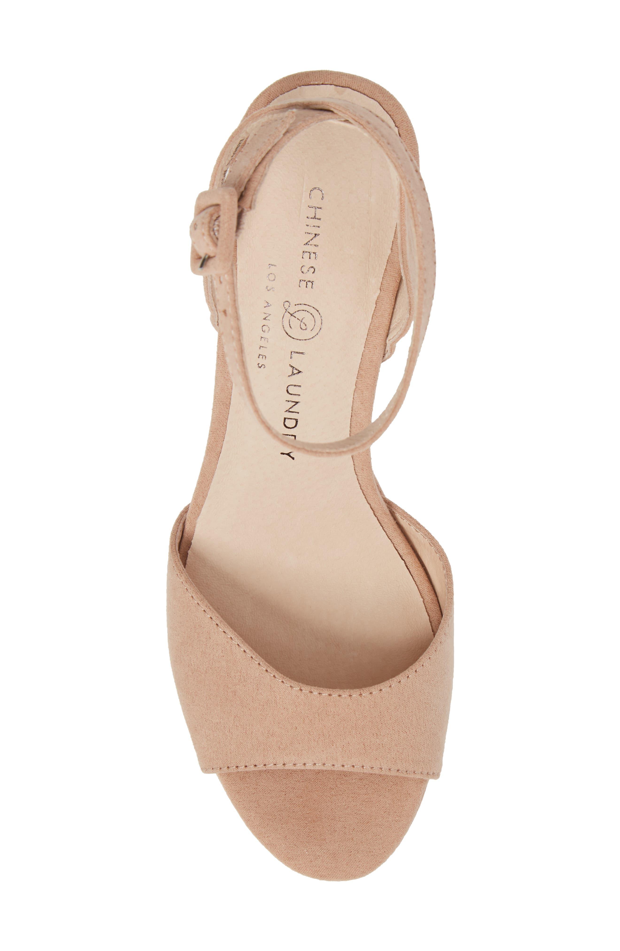 Theresa Platform Sandal,                             Alternate thumbnail 5, color,                             Dark Nude
