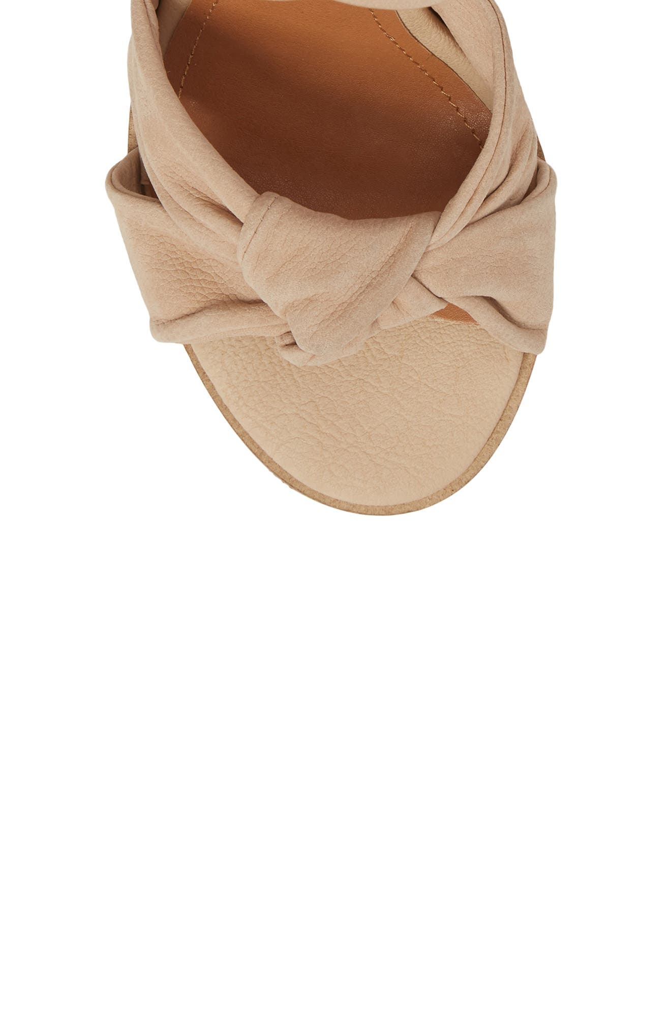Africa Ankle Wrap Sandal,                             Alternate thumbnail 5, color,                             Natural Leather