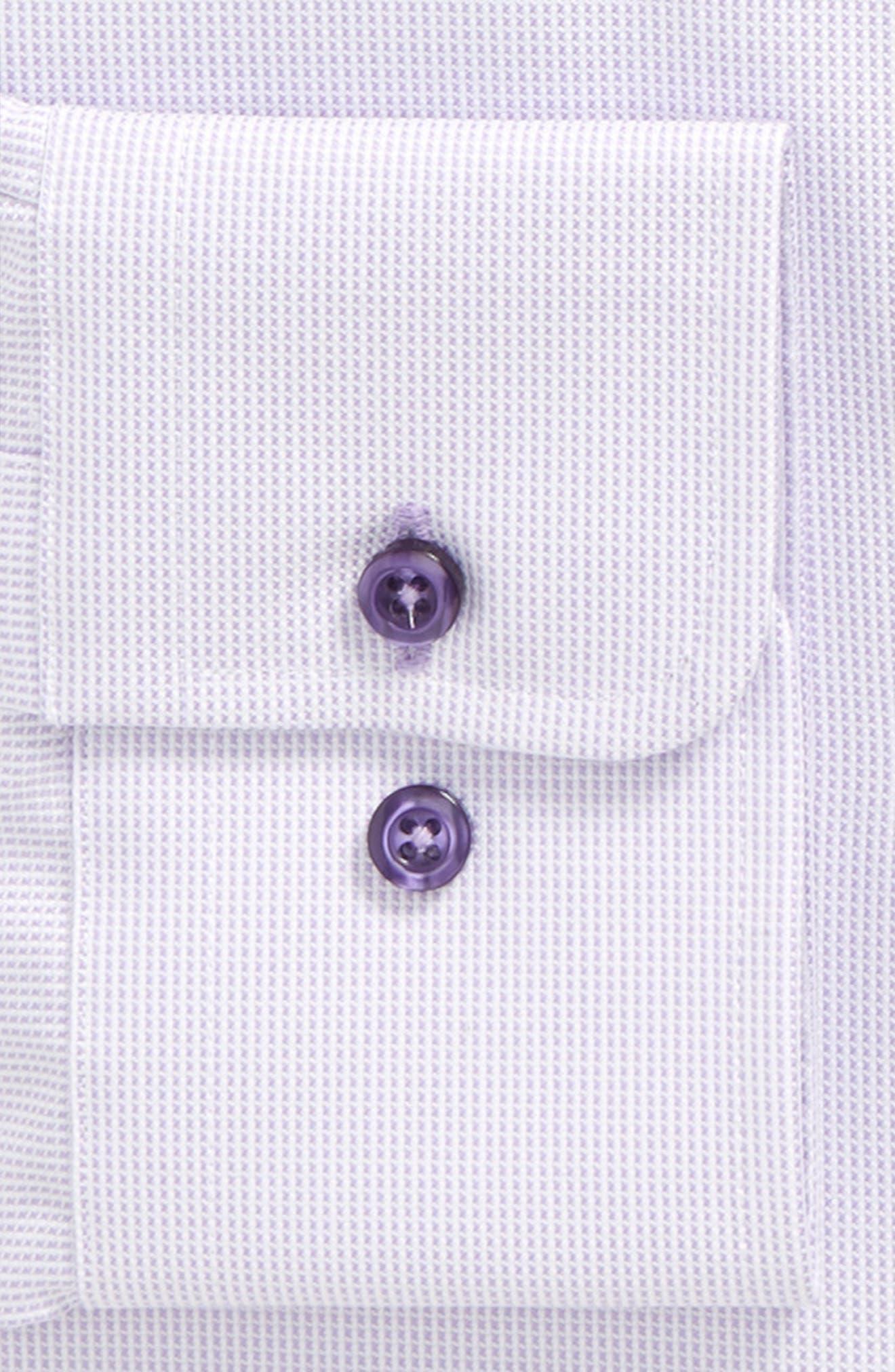 Regular Fit Solid Dress Shirt,                             Alternate thumbnail 5, color,                             Lilac