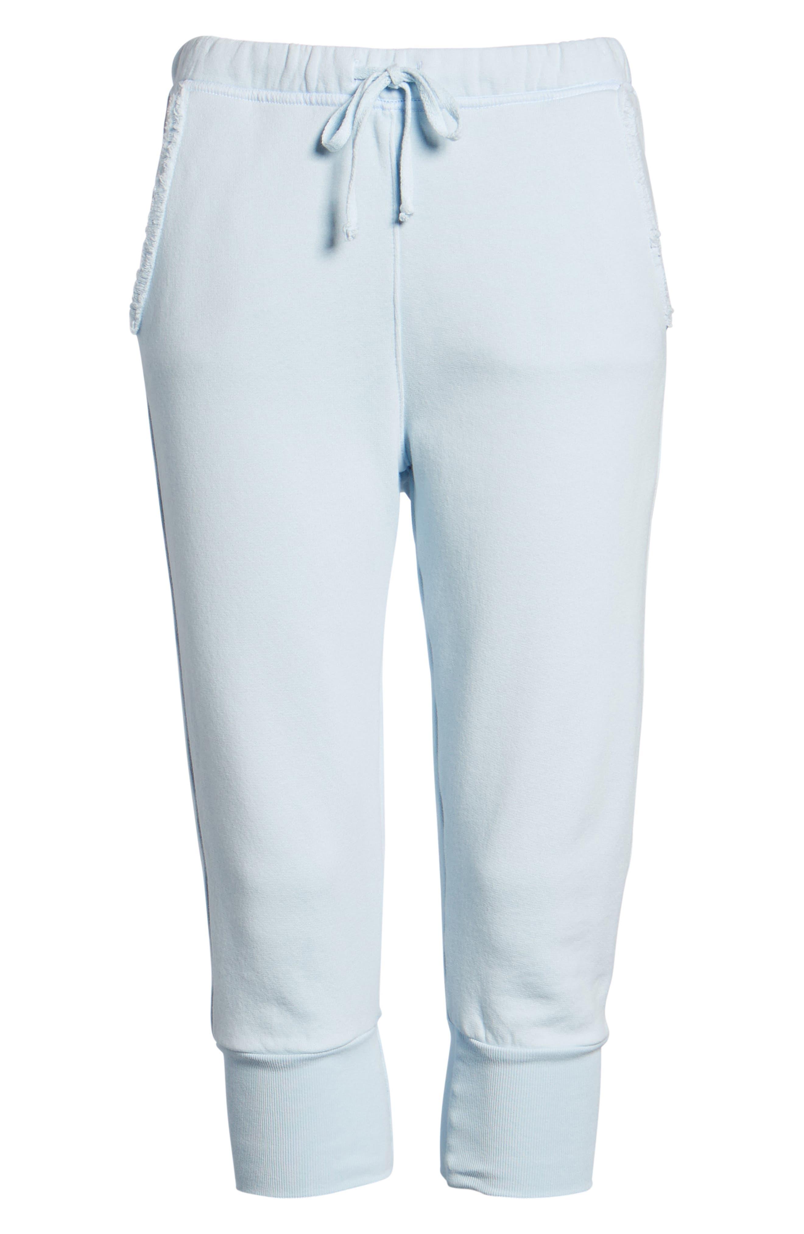 Crop Sweatpants,                             Alternate thumbnail 7, color,                             Mali-Blue