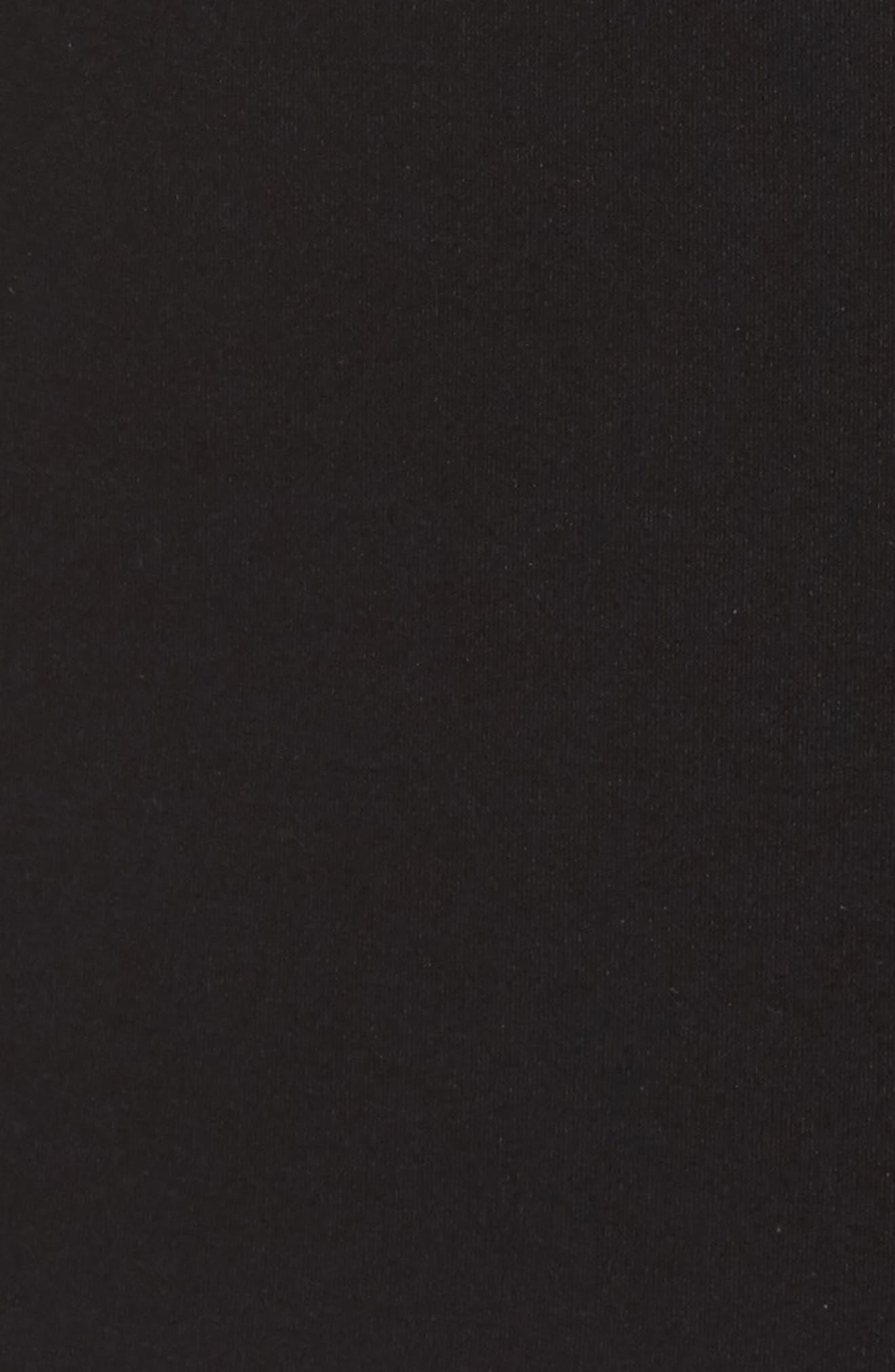 Devyn Embroidered Fit & Flare Dress,                             Alternate thumbnail 5, color,                             Black