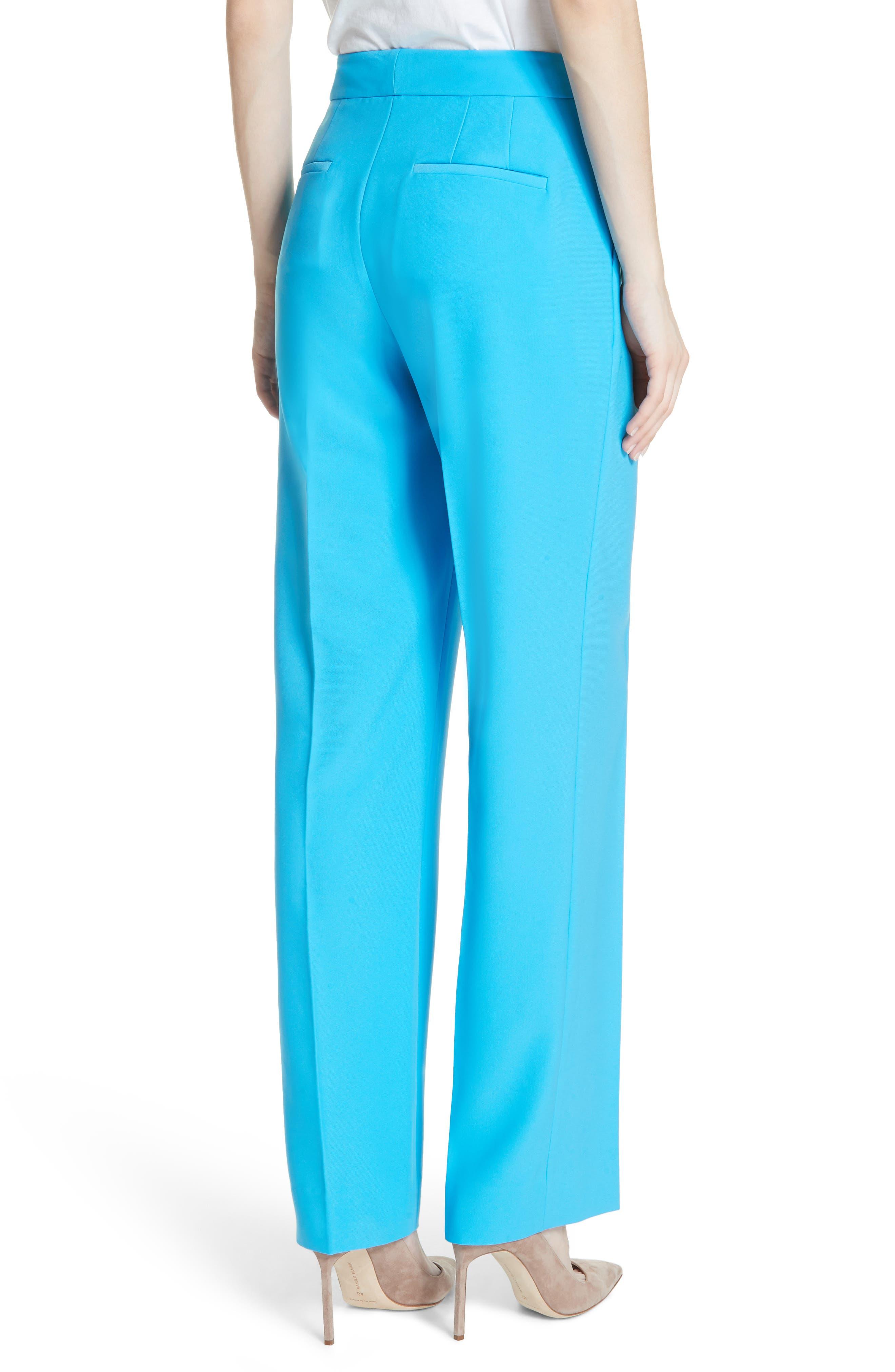 Soft Pleated Trousers,                             Alternate thumbnail 2, color,                             Malibu