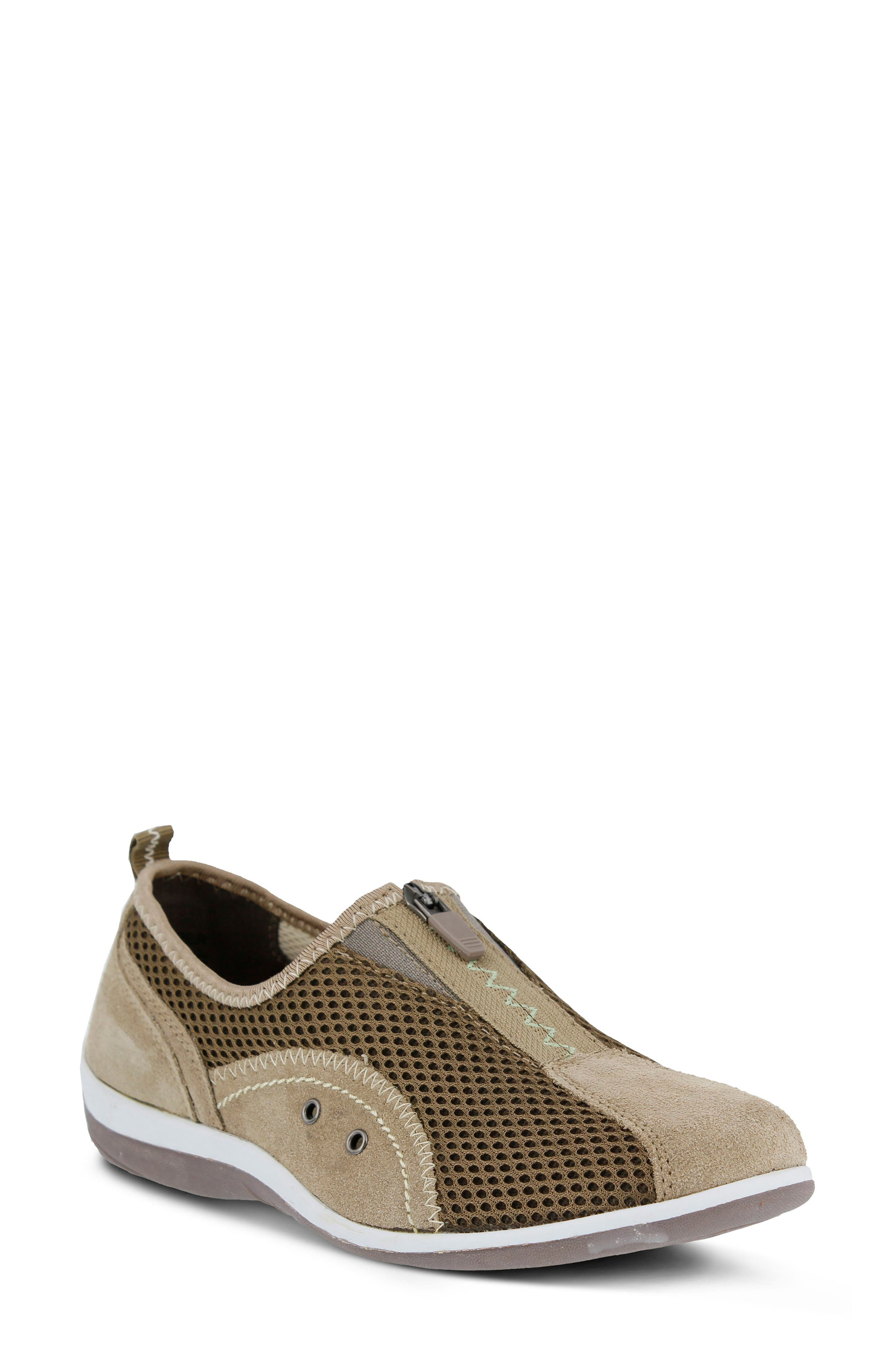 Racer Slip-On Sneaker,                             Main thumbnail 1, color,                             Taupe Suede
