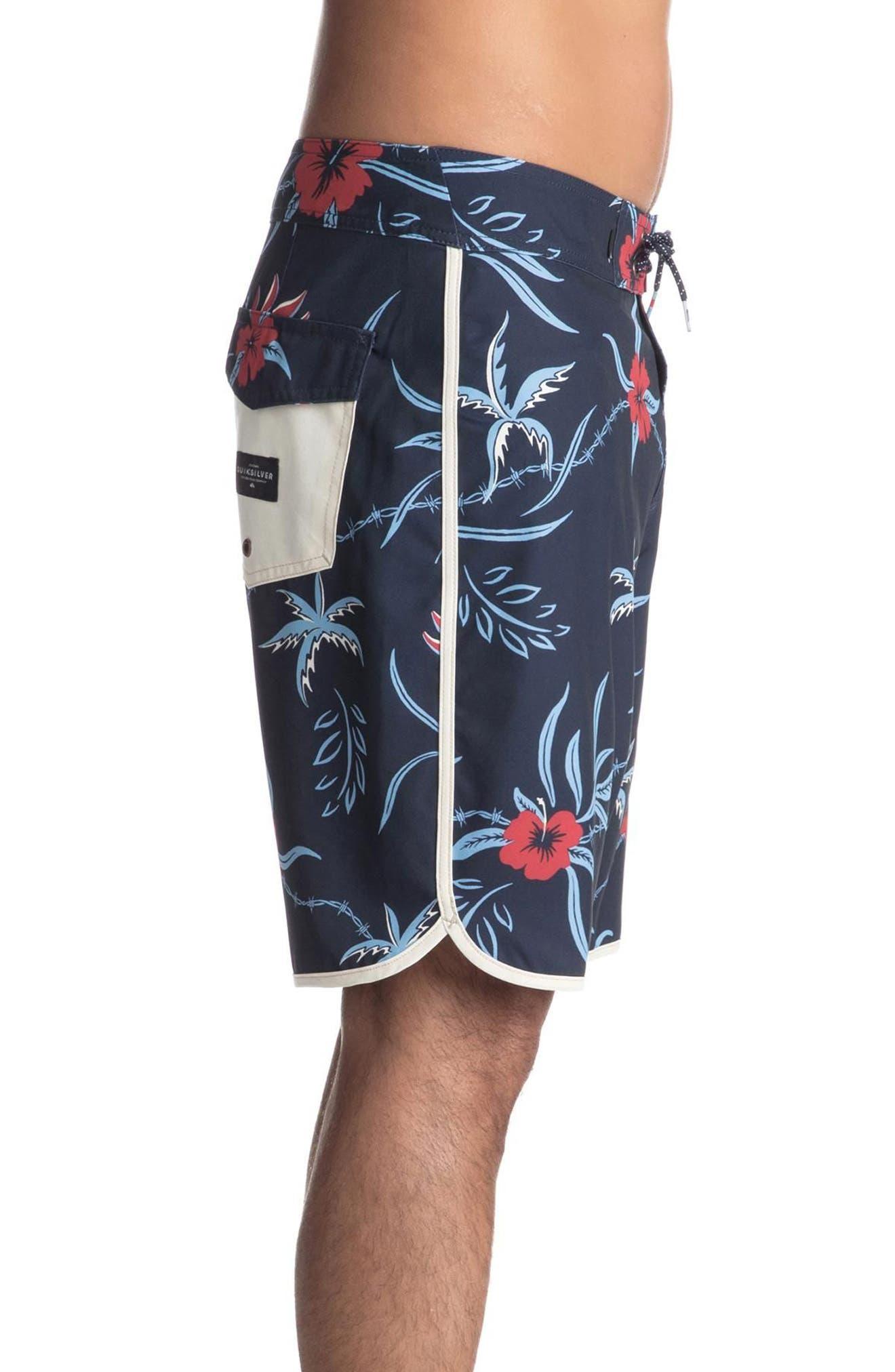 Highline Trespasser Board Shorts,                             Alternate thumbnail 3, color,                             Navy Blazer