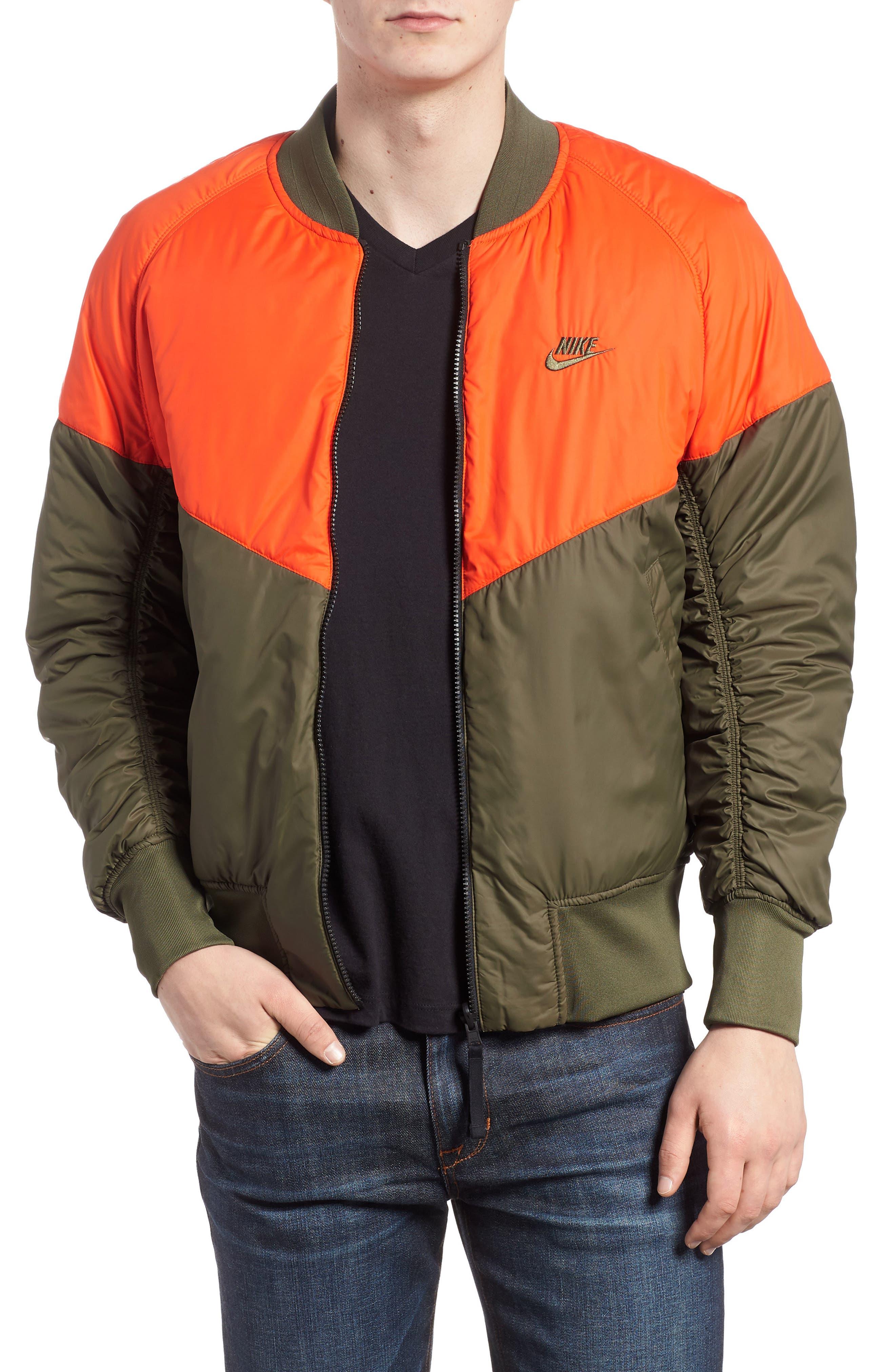 NSW Air Force 1 Jacket,                             Main thumbnail 1, color,                             Medium Olive/ Orange/ Olive