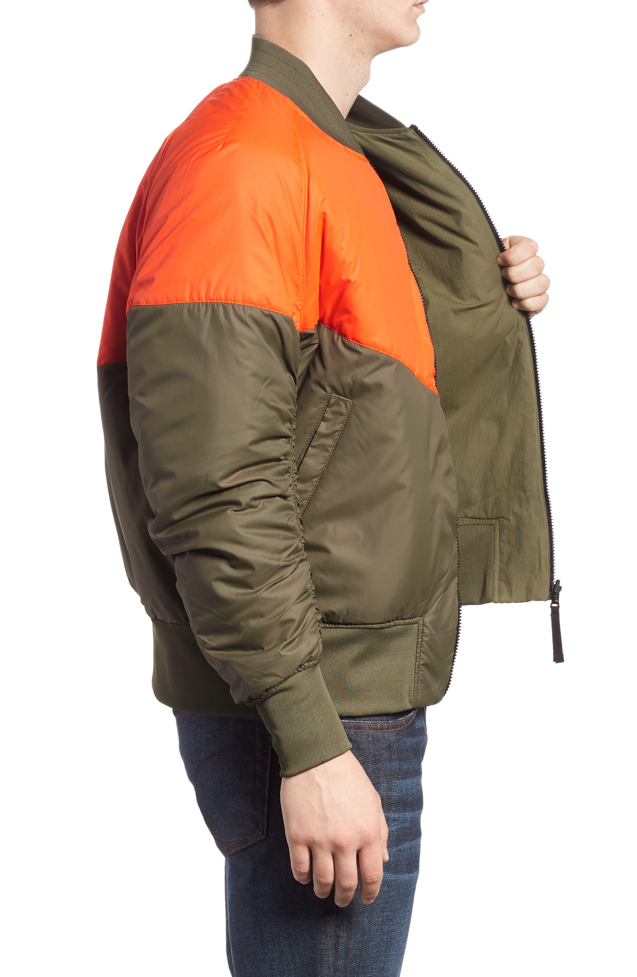 NSW Air Force 1 Jacket,                             Alternate thumbnail 3, color,                             Medium Olive/ Orange/ Olive