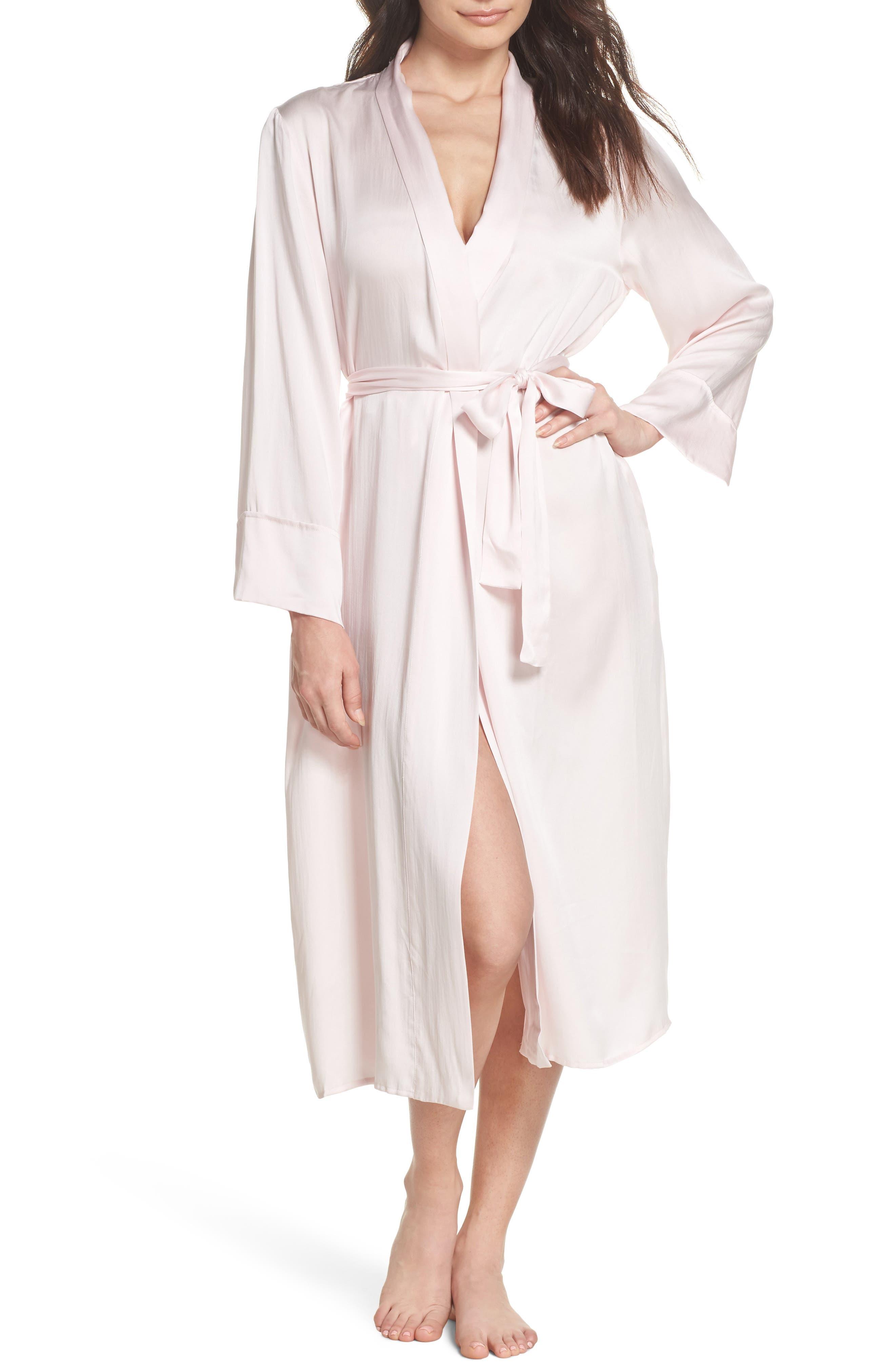Silk Robe,                         Main,                         color, Ice Pink