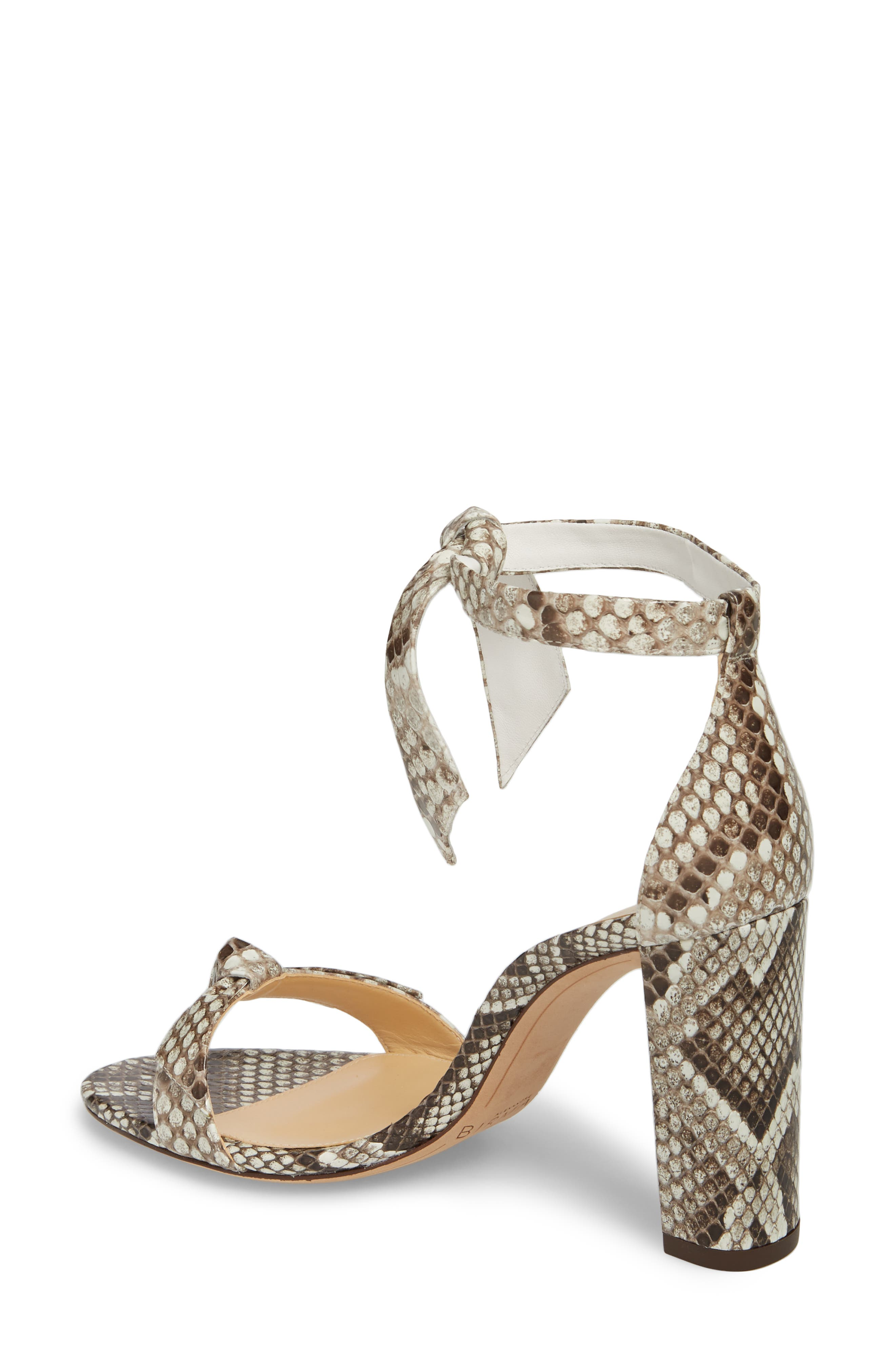 Clarita Genuine Python Ankle Tie Sandal,                             Alternate thumbnail 2, color,                             Natural