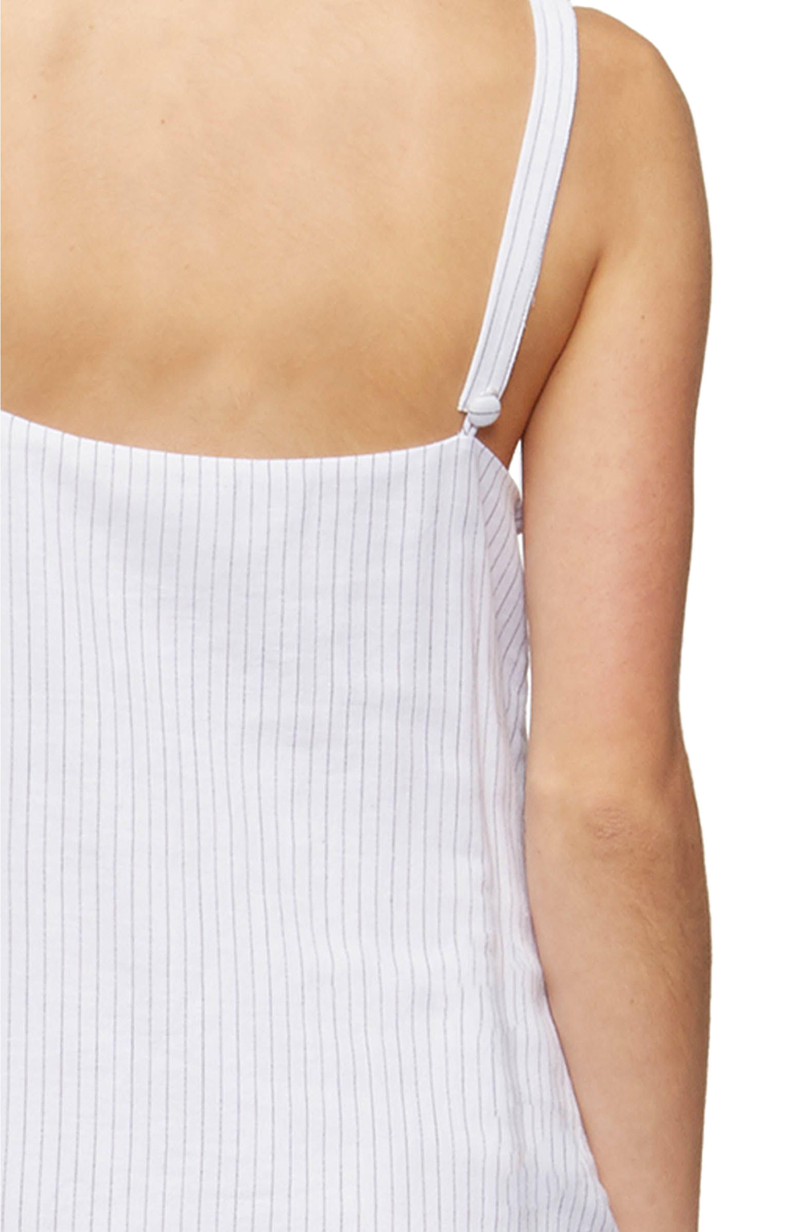Tara Cover-Up Dress,                             Alternate thumbnail 4, color,                             Black Pinstripe