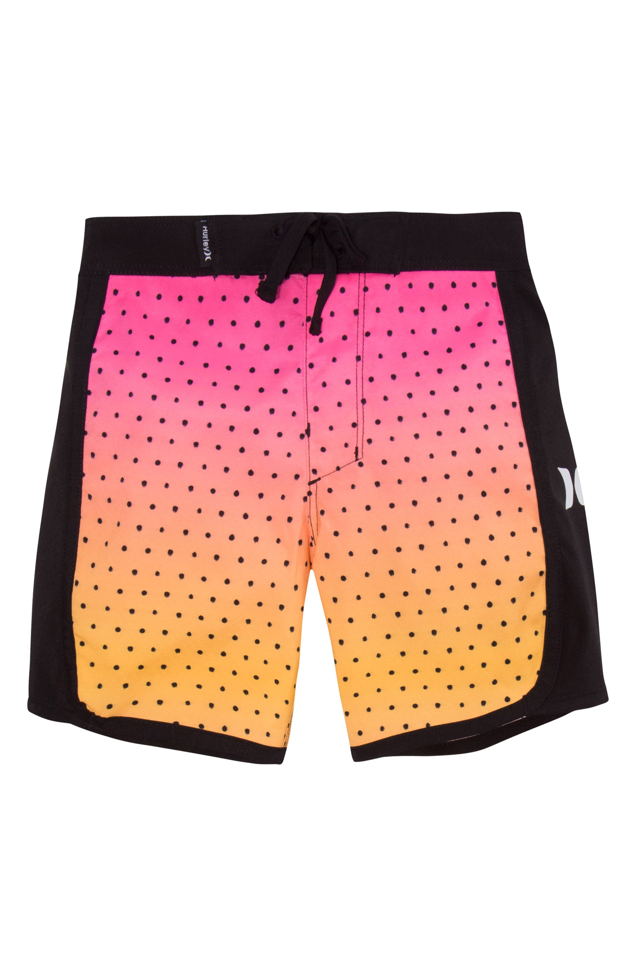 Third Reef Board Shorts,                         Main,                         color, Hyper Pink