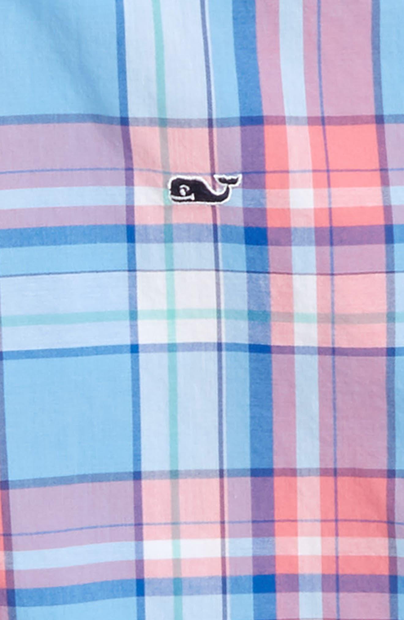 Bluff House Plaid Woven Shirt,                             Alternate thumbnail 2, color,                             Ocean Breeze
