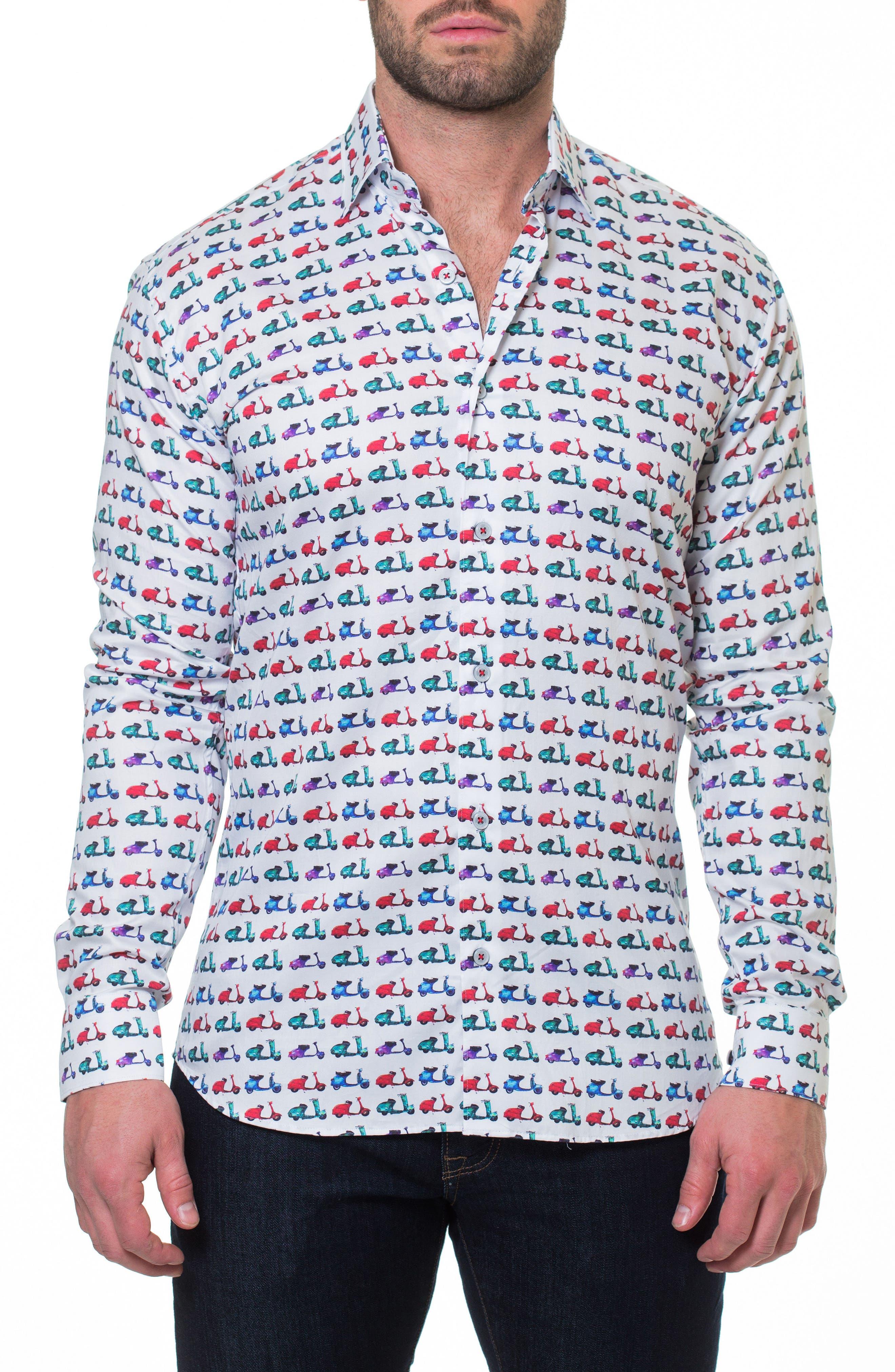 Luxor Vespa Sport Shirt,                             Main thumbnail 1, color,                             White
