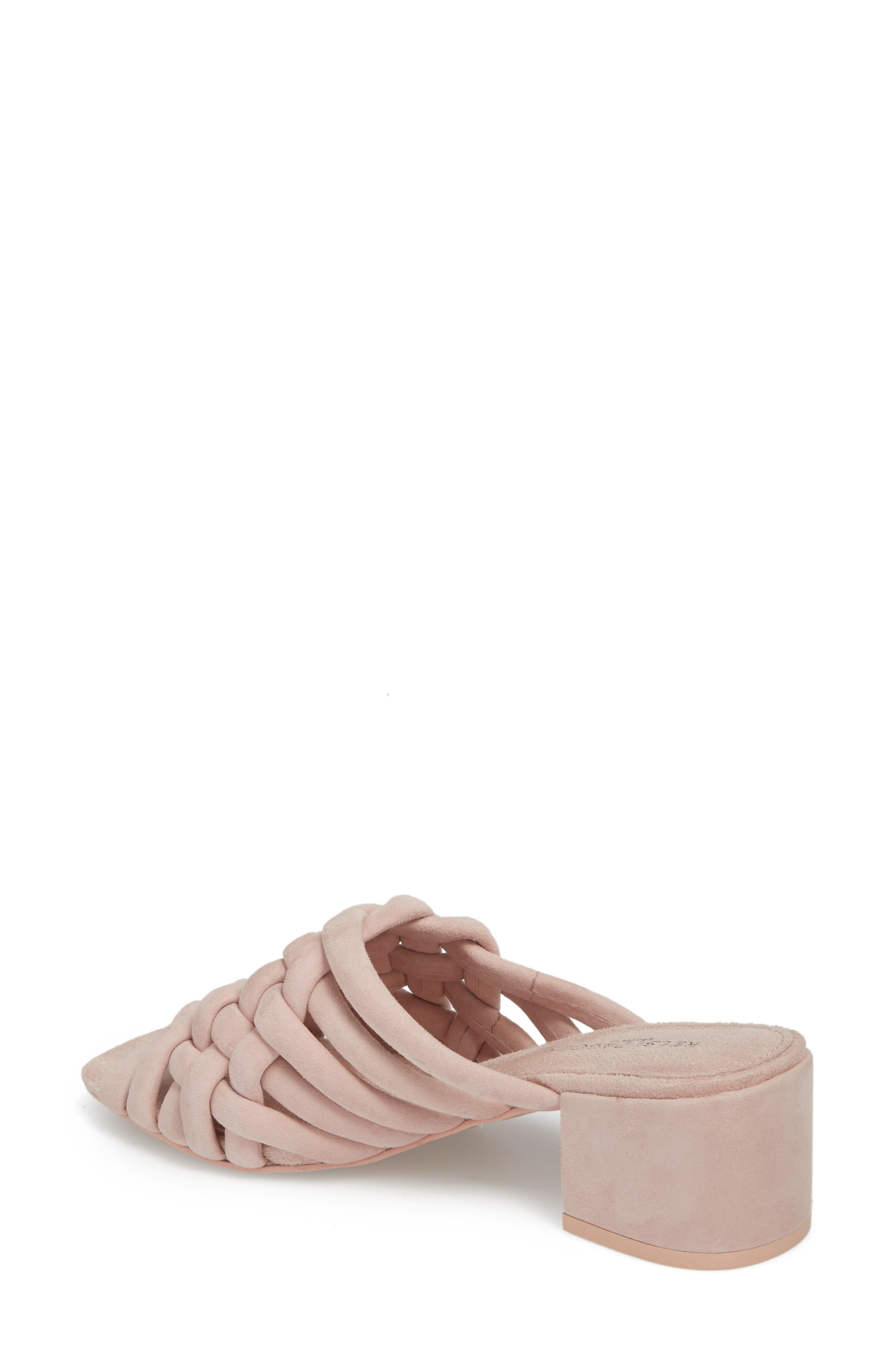 Sky Dress Woven Mule Sandal,                             Alternate thumbnail 2, color,                             Pale Pink