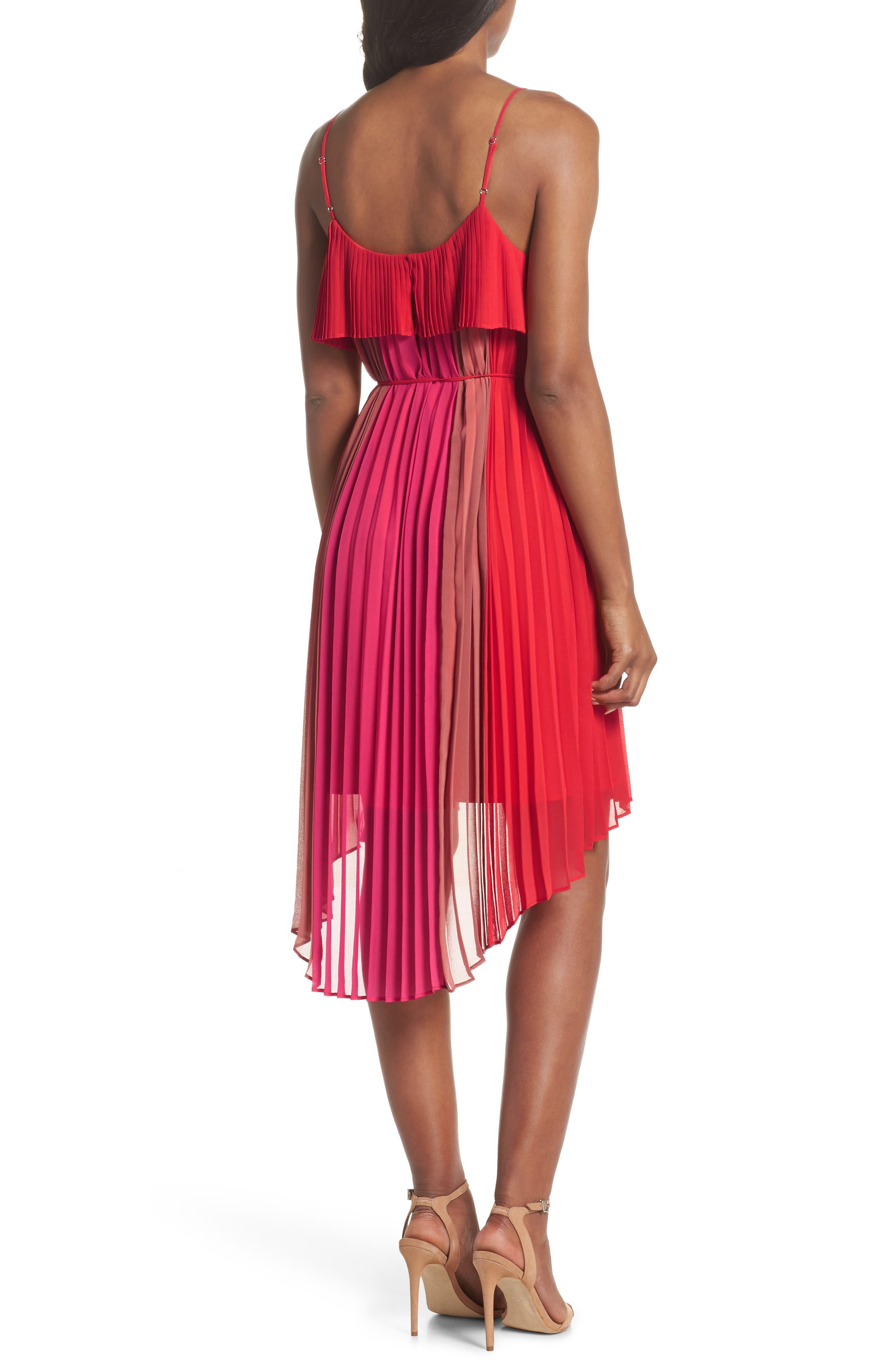 Pepper Pleated Dress,                             Alternate thumbnail 2, color,                             Red Multi