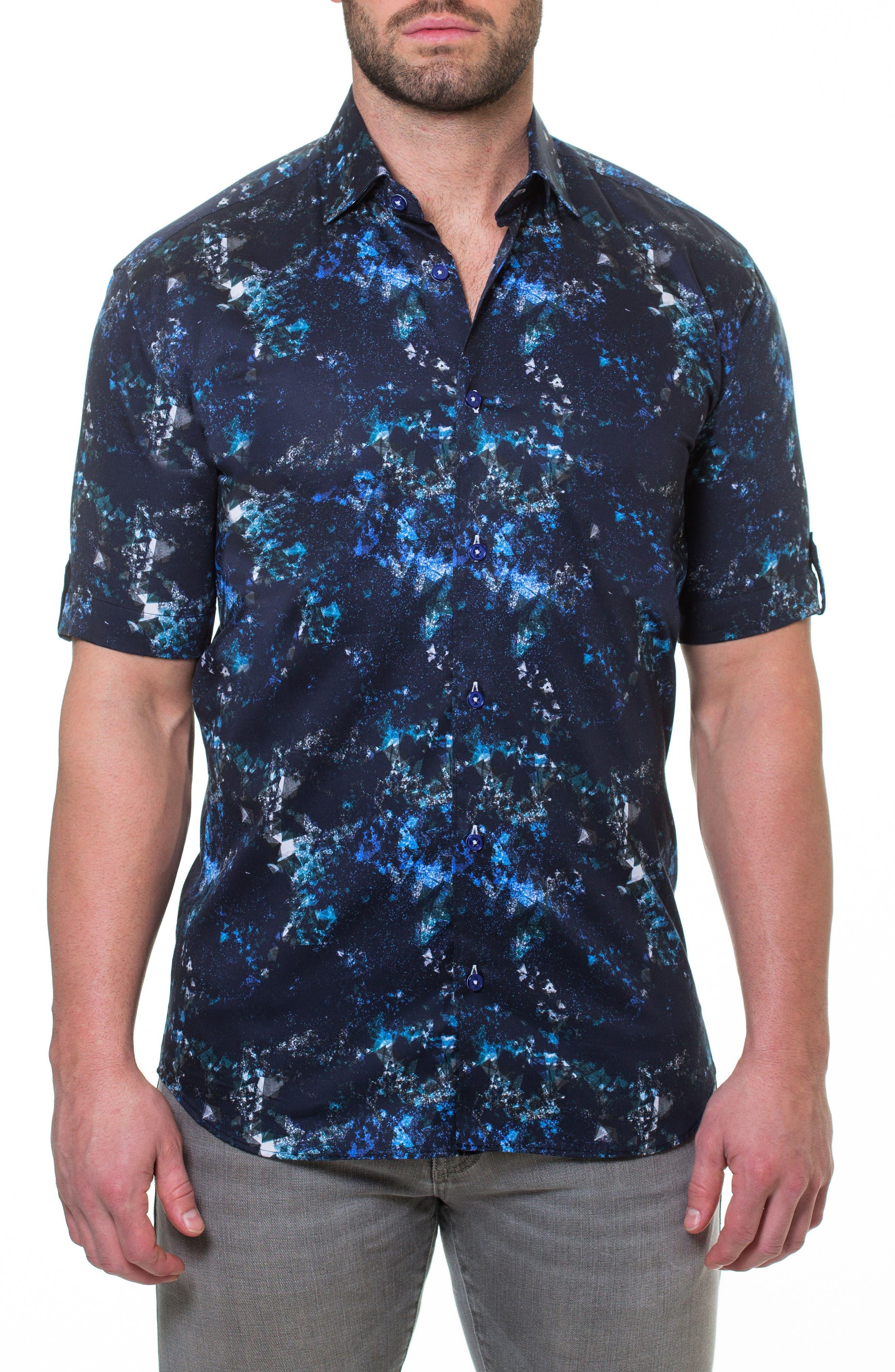 Fresh Pi Sport Shirt,                         Main,                         color, Blue