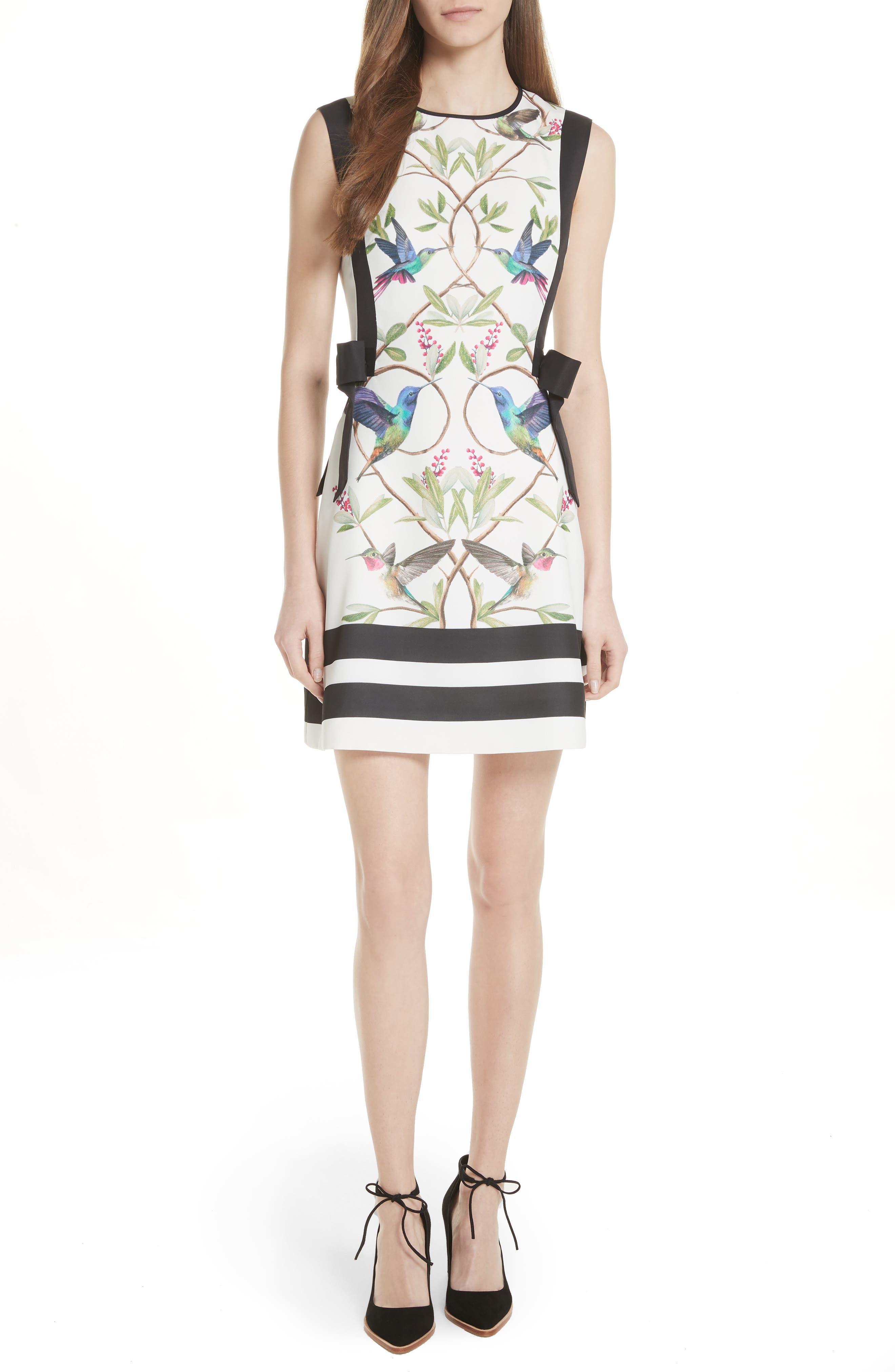 High Grove A-Line Dress,                         Main,                         color, White
