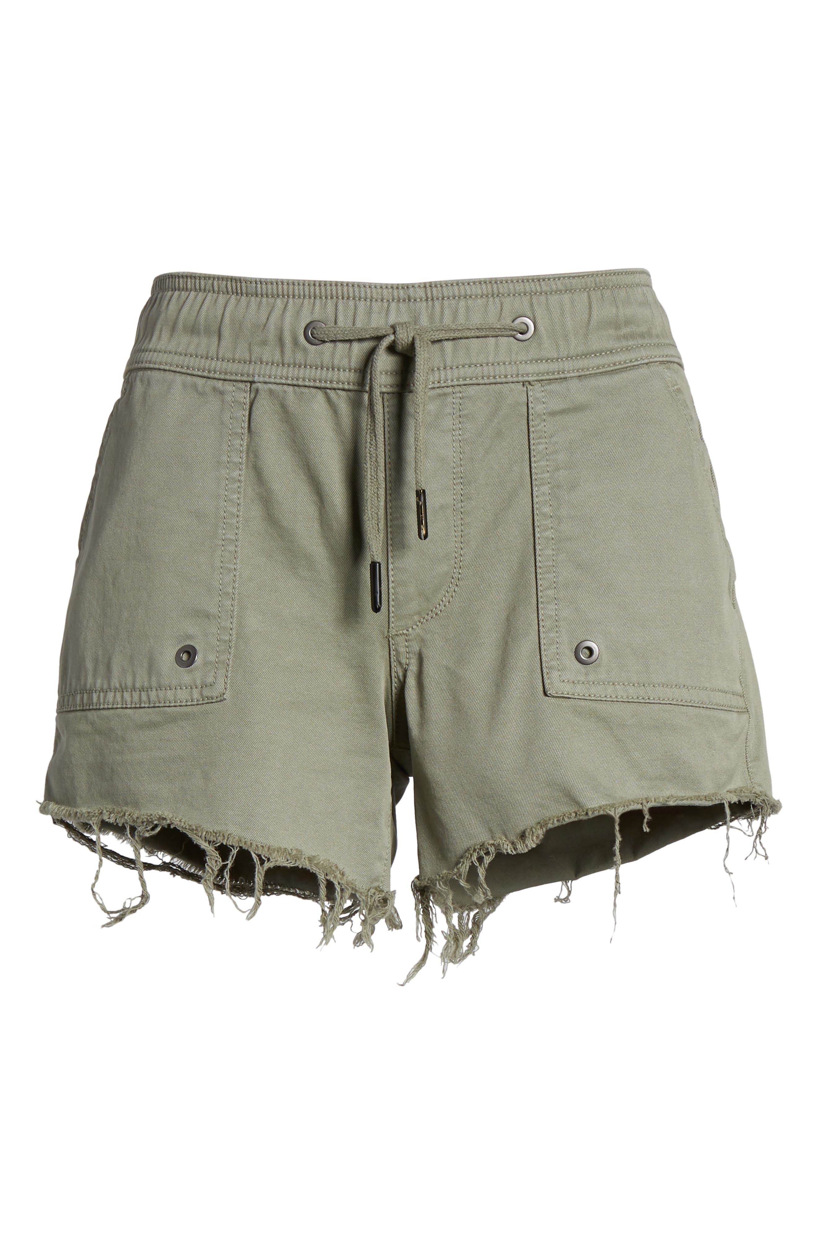 Flynn Low Rise Military Shorts,                             Alternate thumbnail 7, color,                             Grove