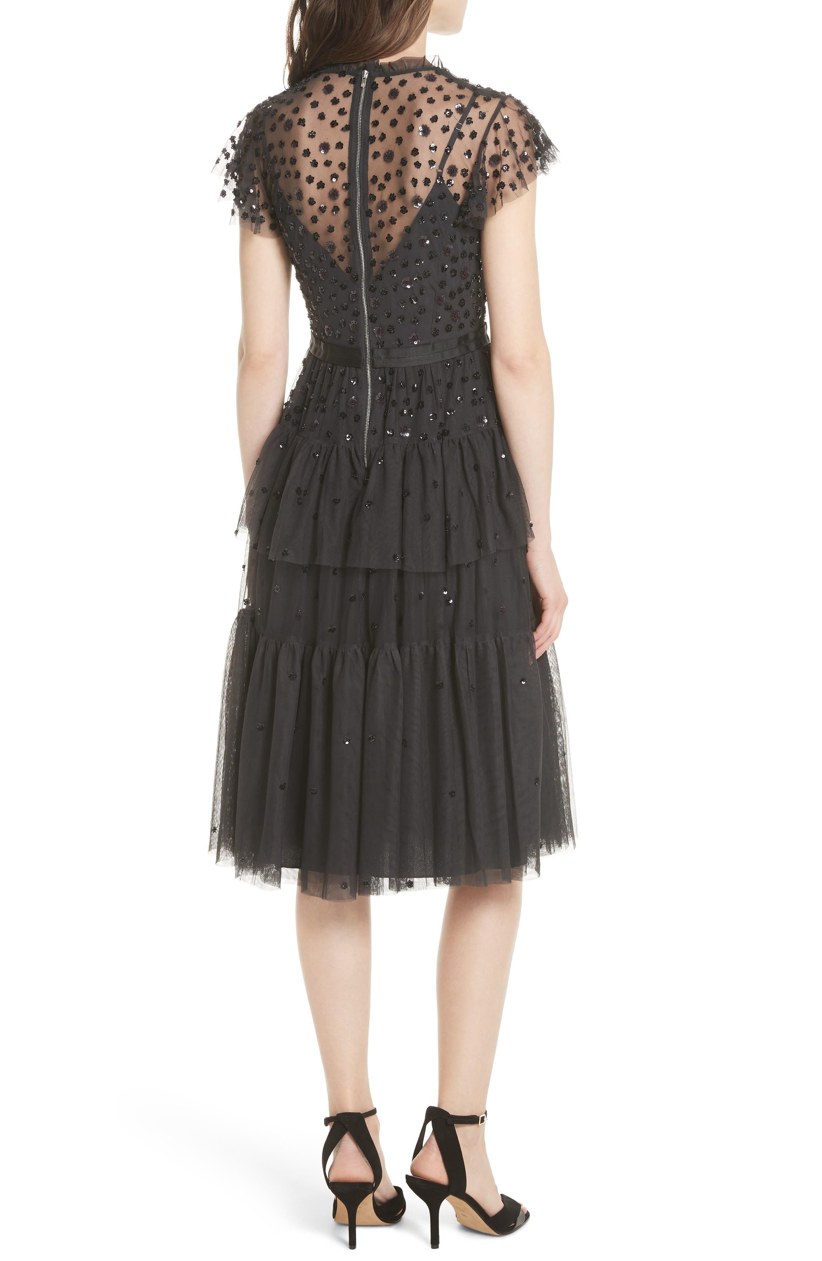 Mirage Sequin Dress,                             Alternate thumbnail 2, color,                             Graphite