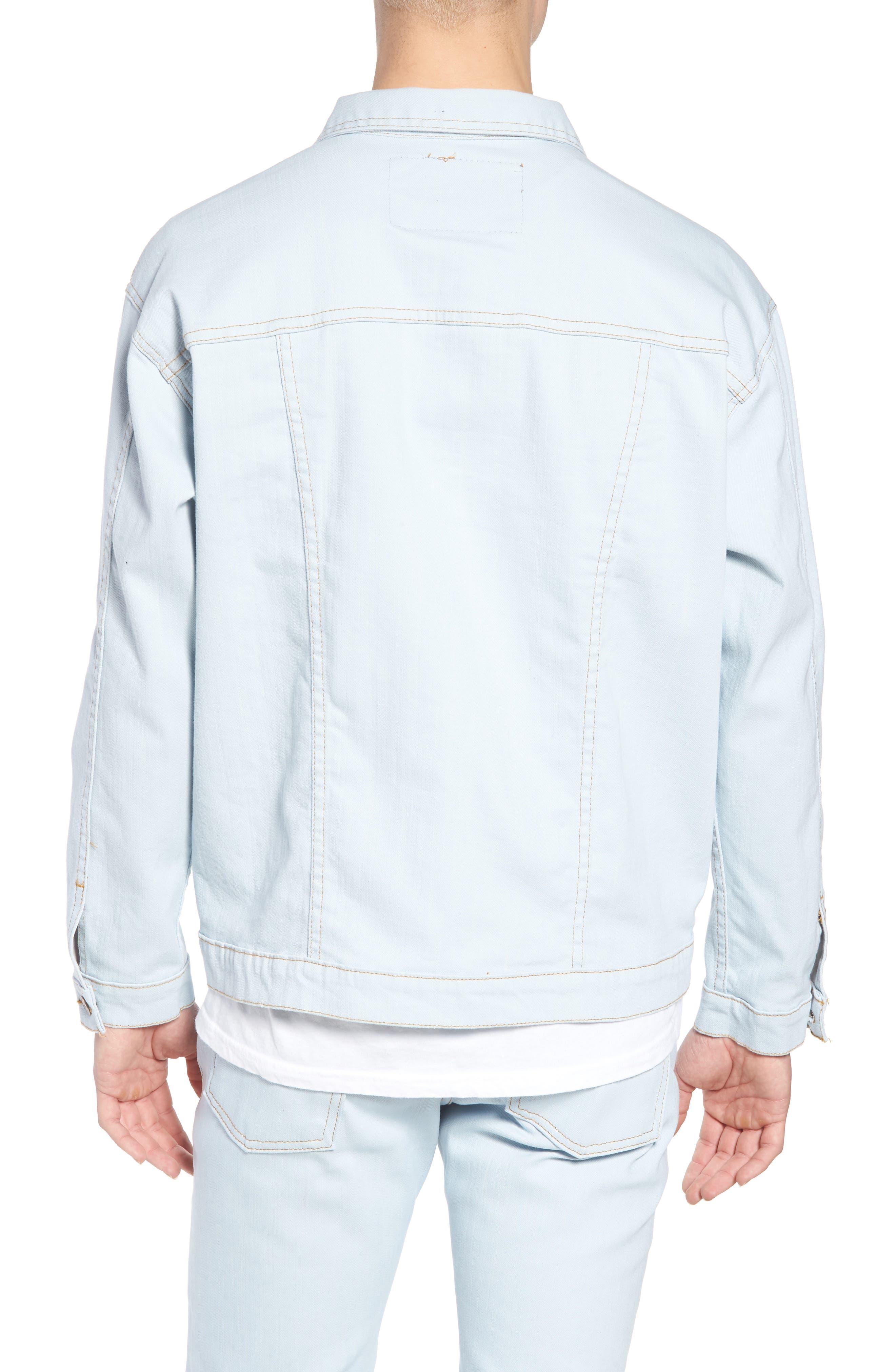 Oversize Jacket,                             Alternate thumbnail 2, color,                             Powder Blue