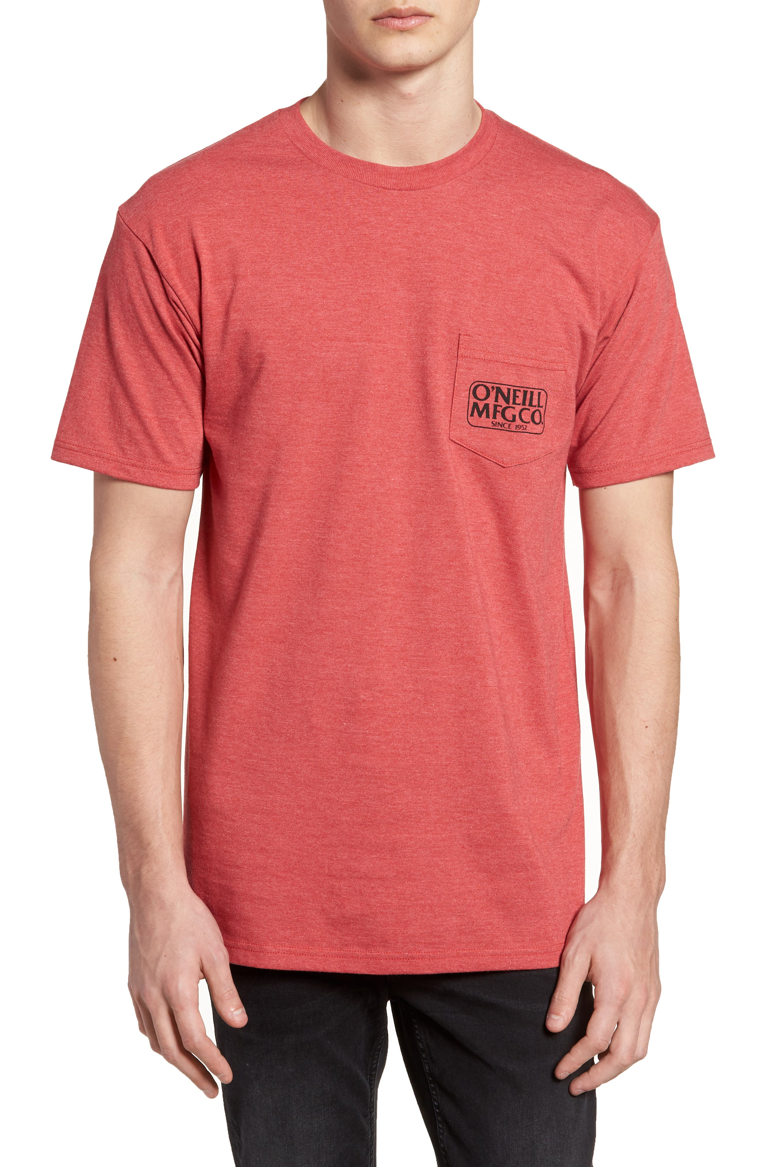 MFG Graphic T-Shirt,                         Main,                         color, Red Heather