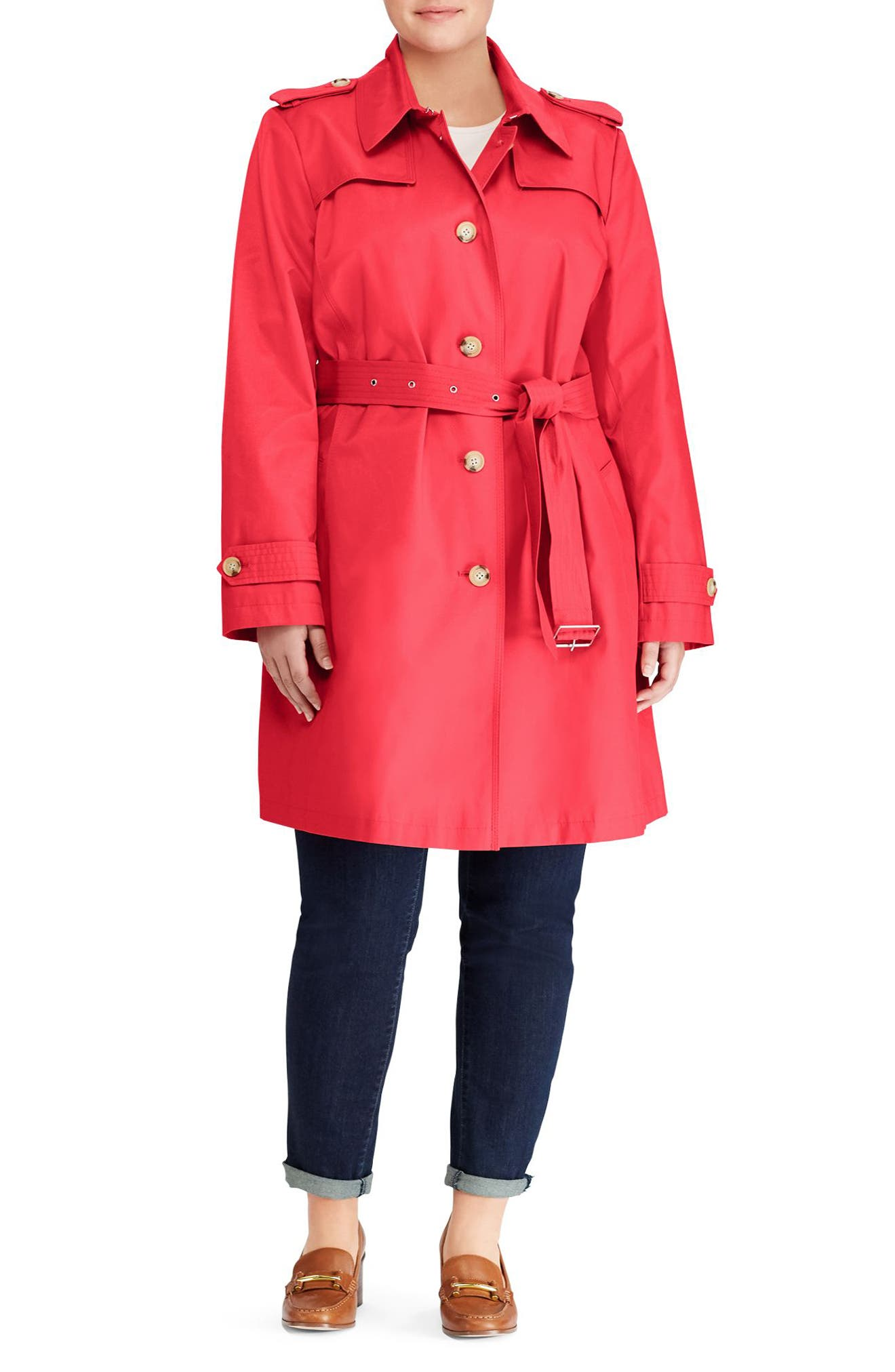 Trench Coat,                             Alternate thumbnail 3, color,                             Rosewood