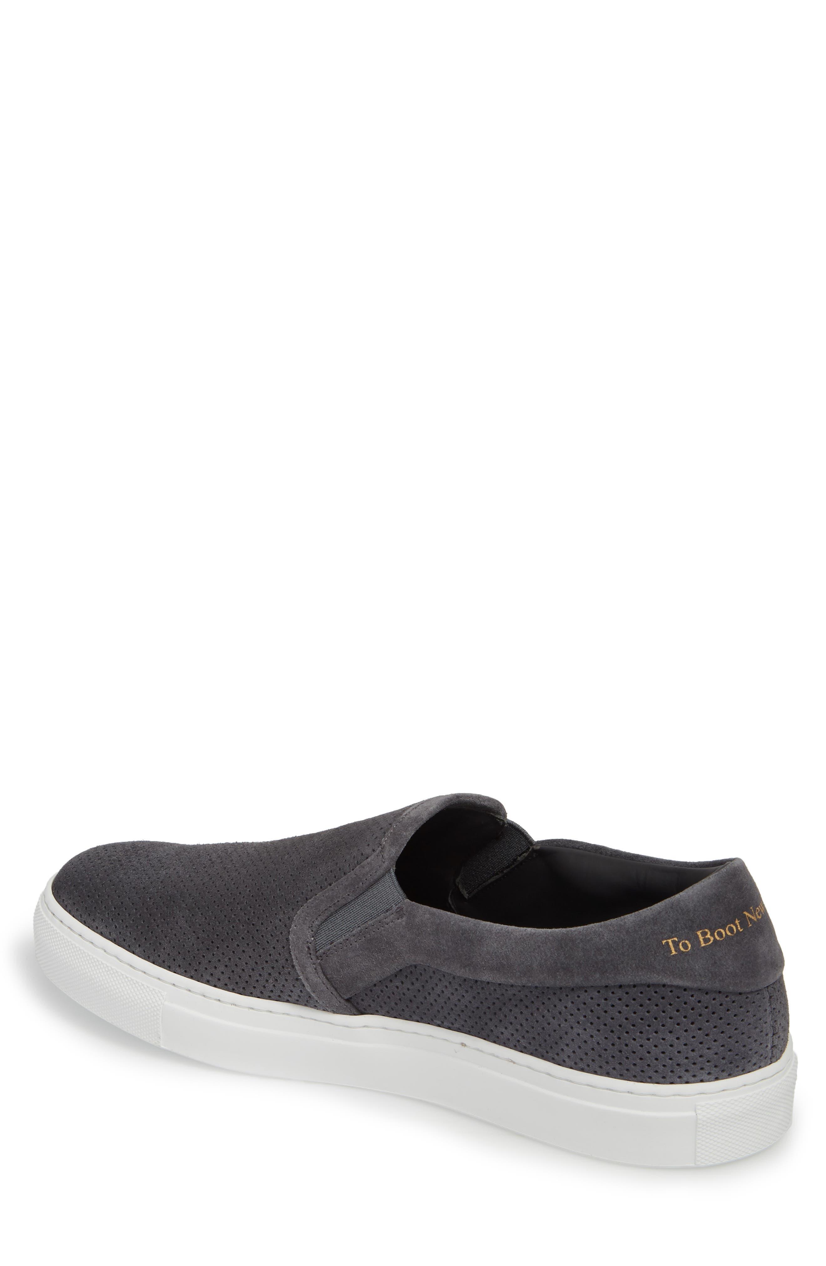 Buelton Perforated Slip-On Sneaker,                             Alternate thumbnail 2, color,                             Avion/ Tan Suede