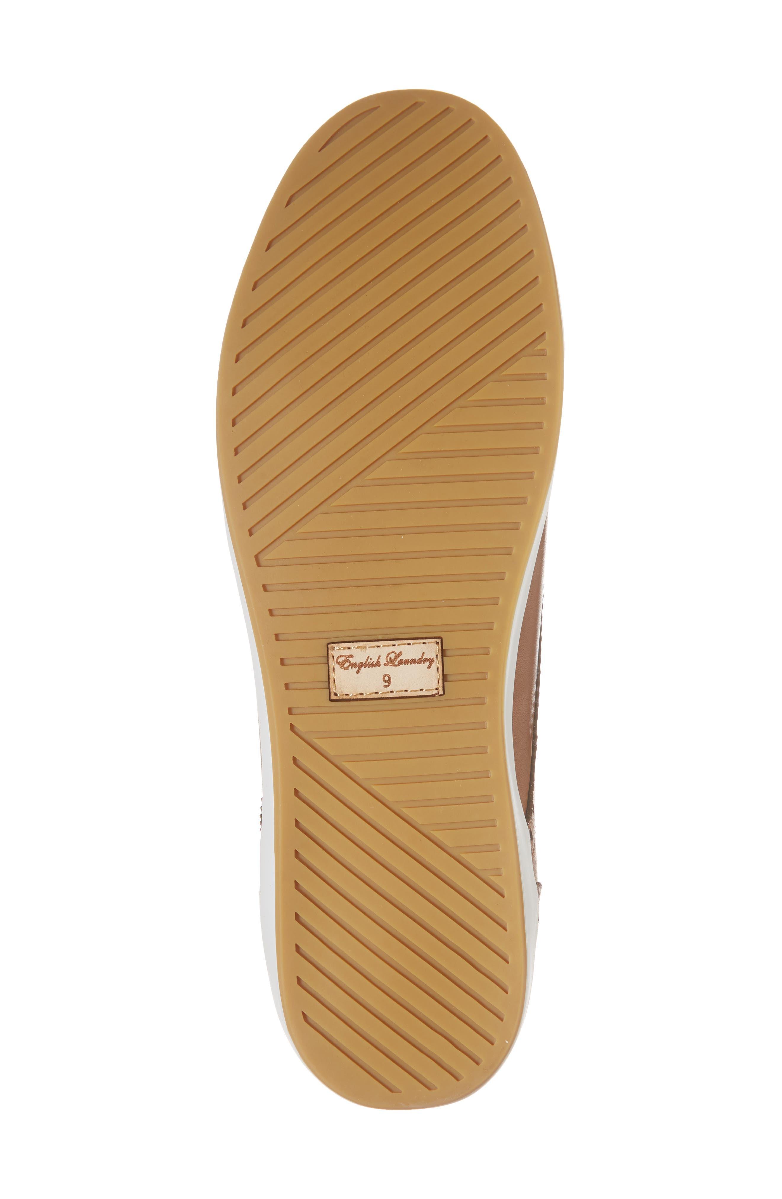 Dunnet Cap Toe Sneaker,                             Alternate thumbnail 6, color,                             Cognac Leather