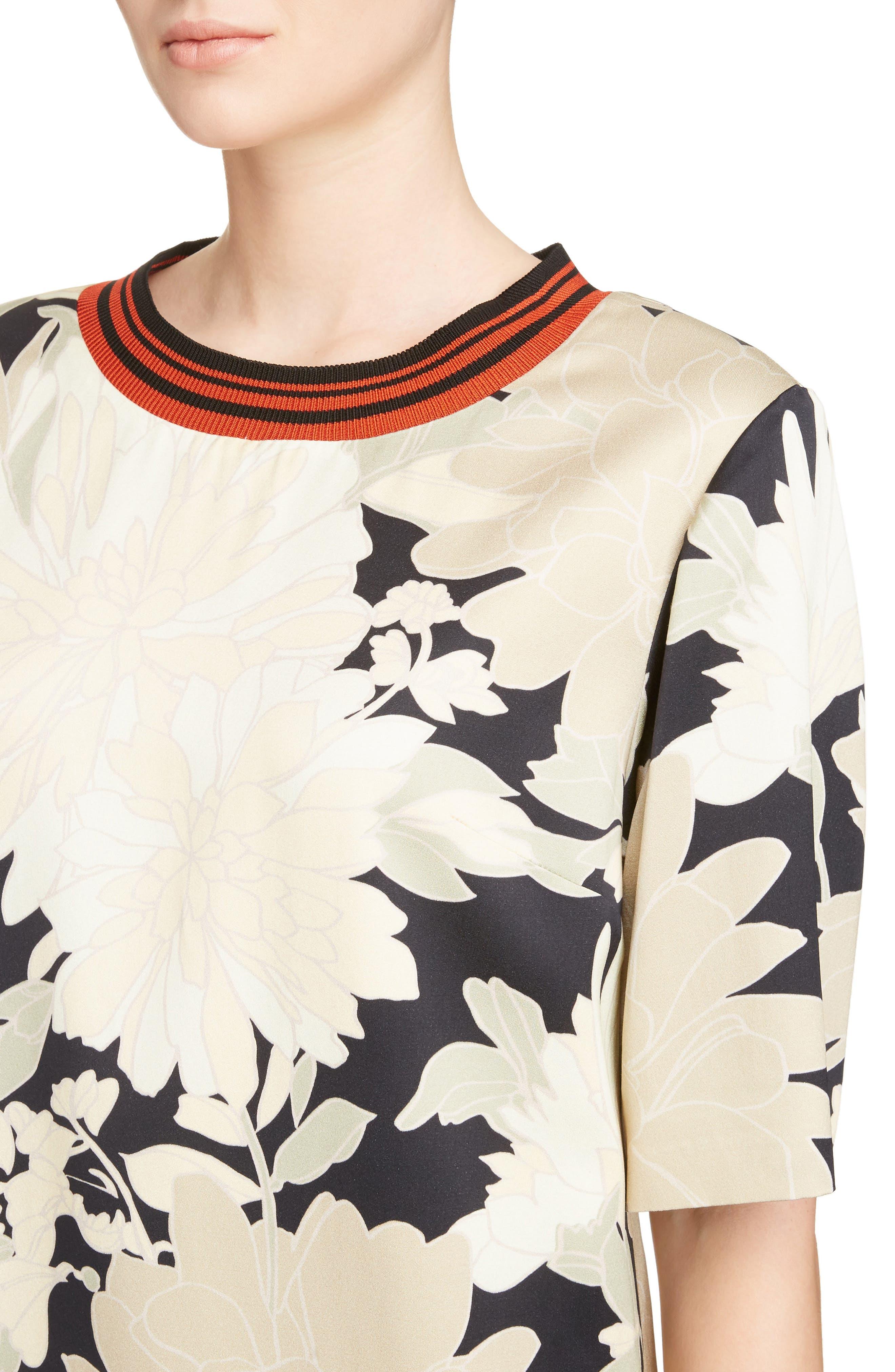 Alternate Image 4  - Dries Van Noten Knit Trim Floral Dress