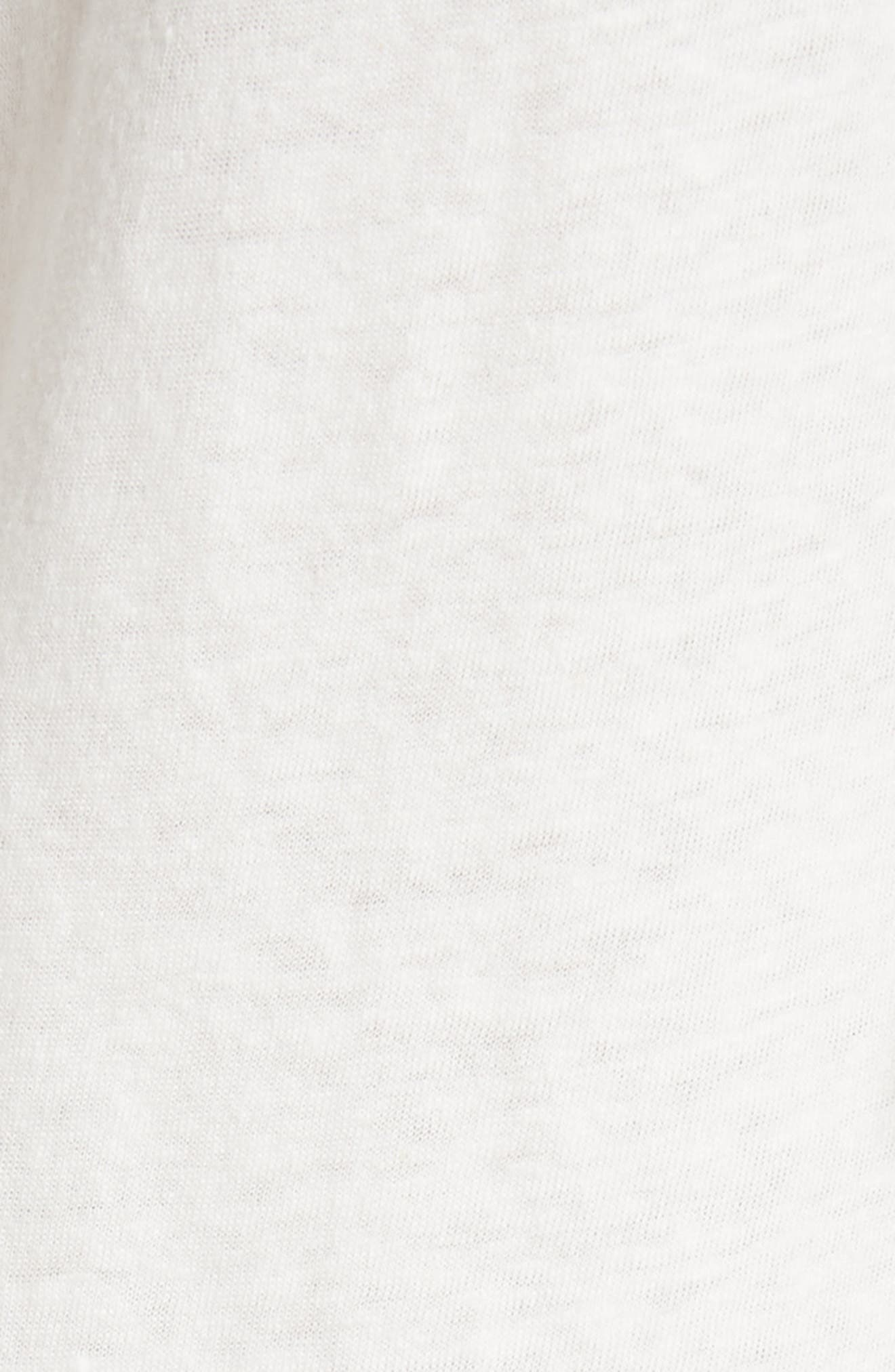 Textured Stripe Linen & Cotton Top,                             Alternate thumbnail 5, color,                             Milk